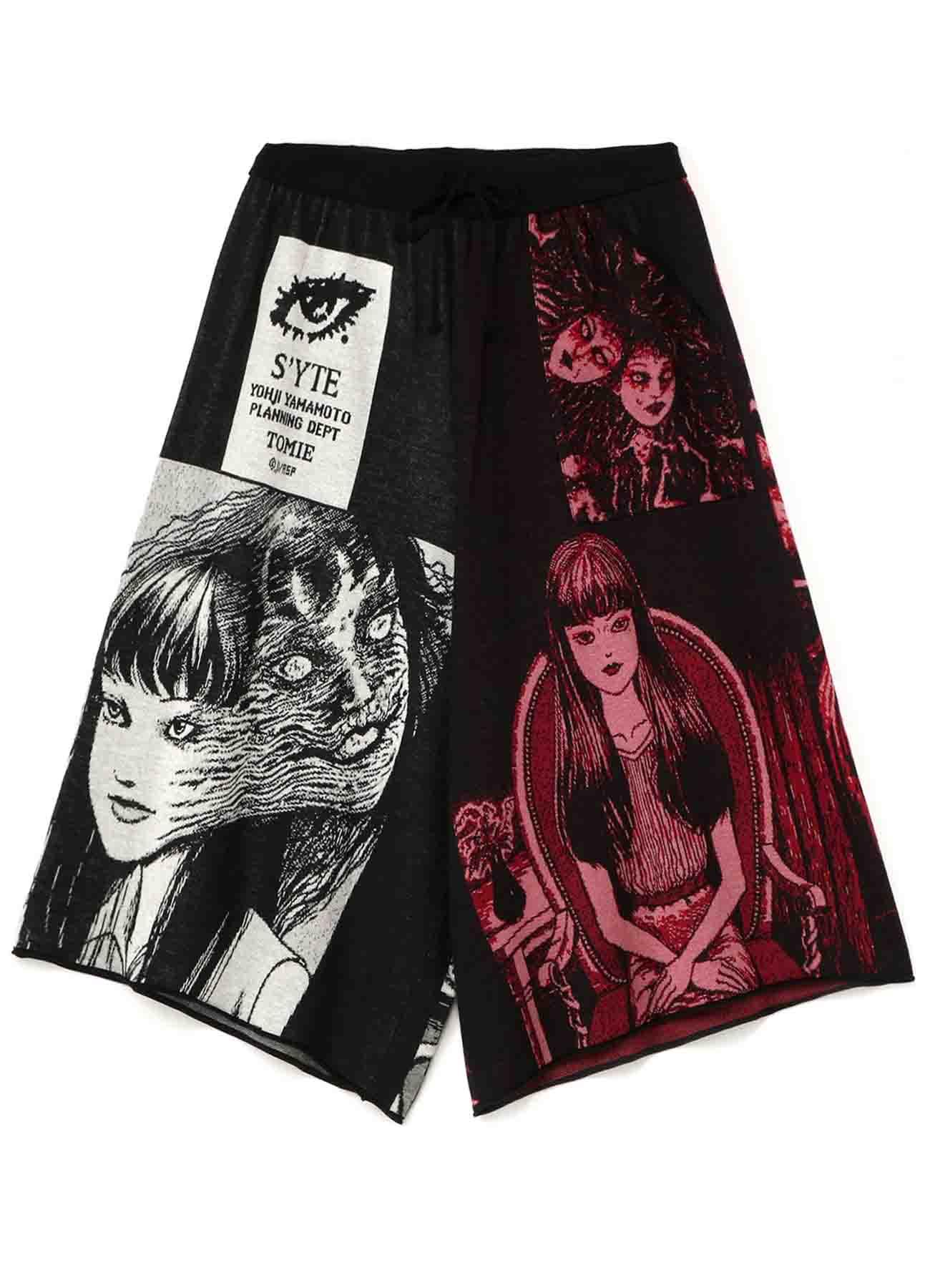 """Tomie"" Junji Ito Hameauze Jacquard Culottes Pants"