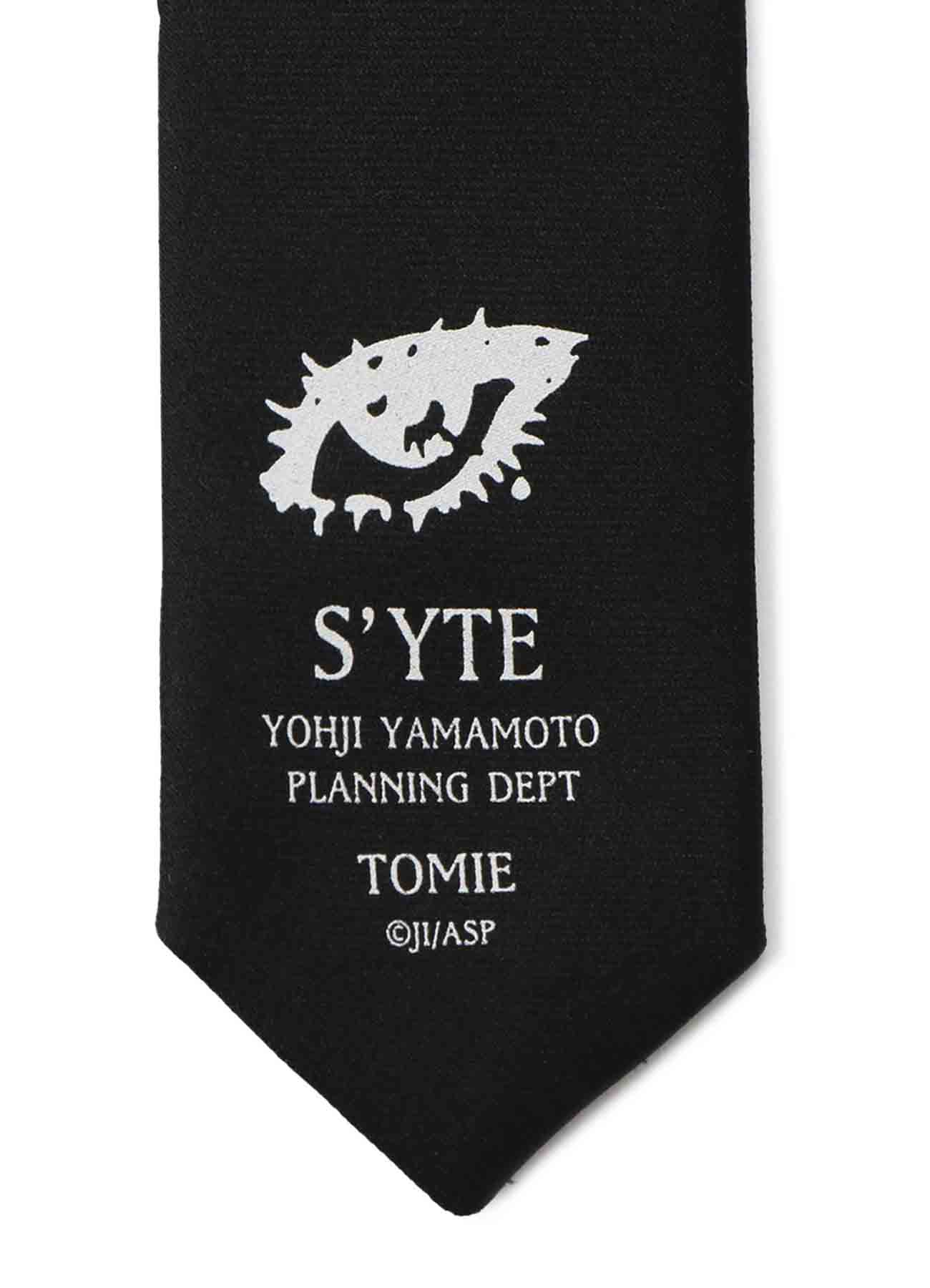 "Silk Satin ""Tomie"" Wearing  Yohji Yamamoto Lace-up Dress Regular Tie"