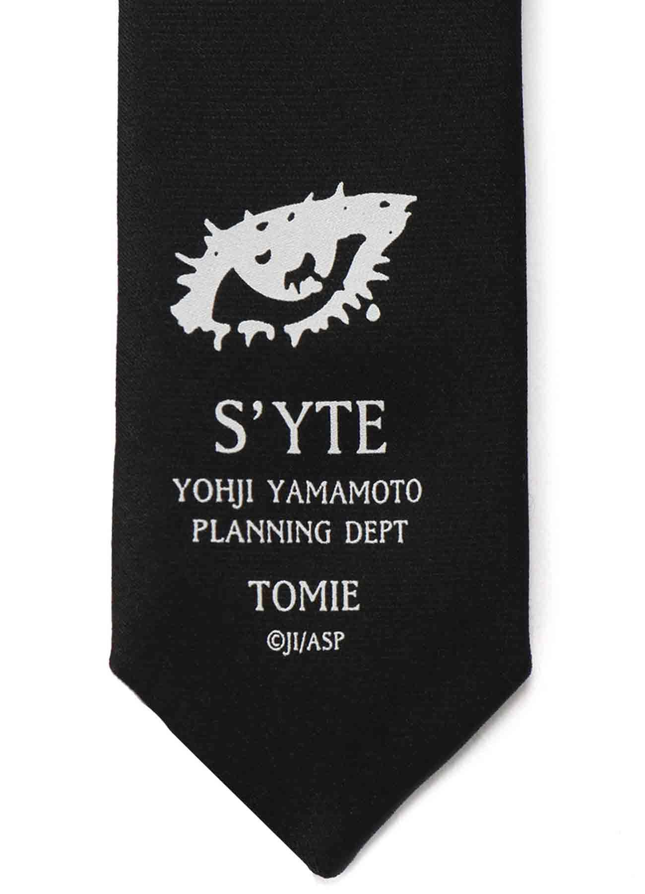 "Silk Satin ""Tomie"" Wearing Yohji Yamamoto Dress Tulle Regular Tie"