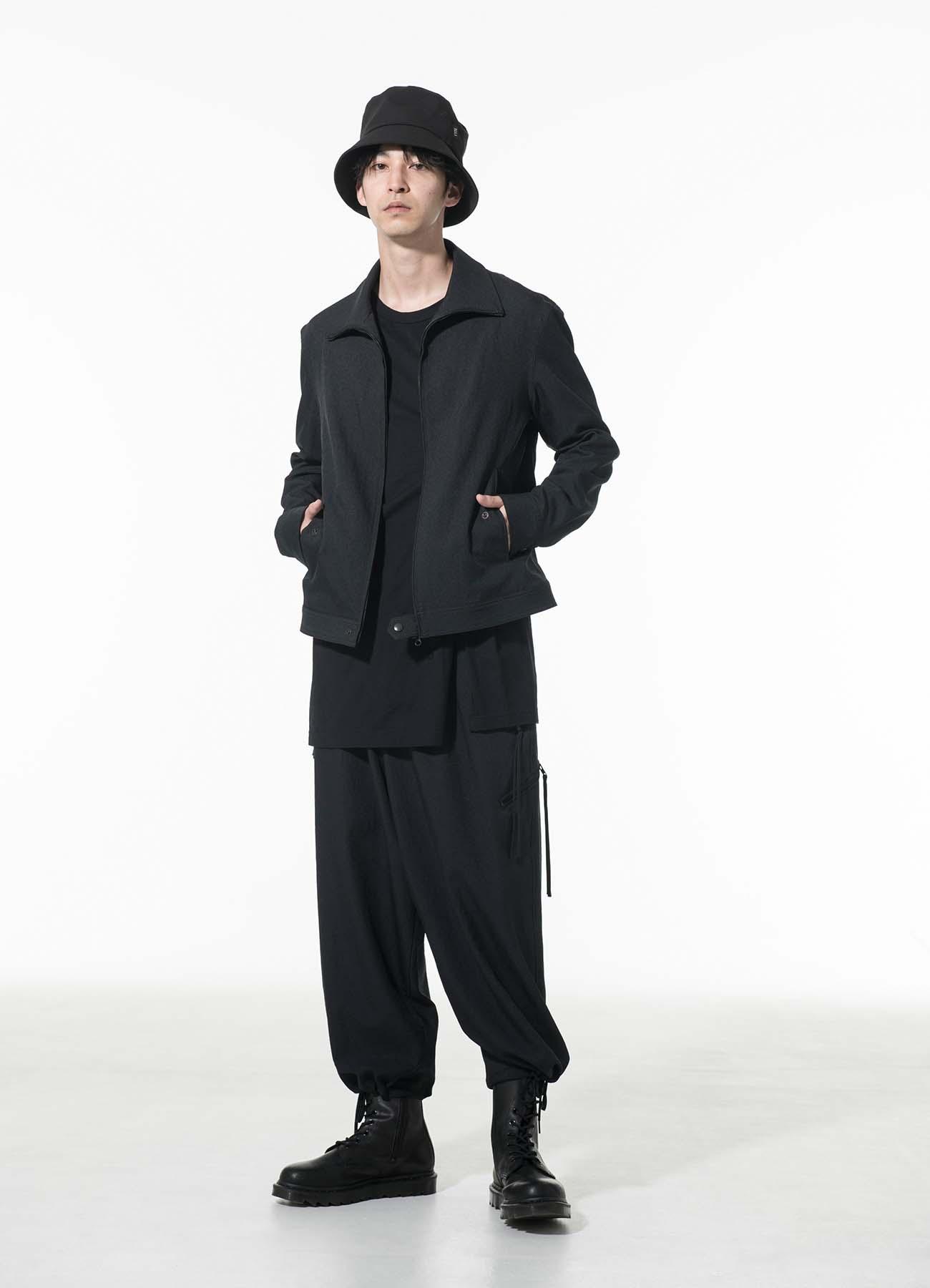 Shiwanoaru Polyester Stretch Twill Fastener Cargo Pants