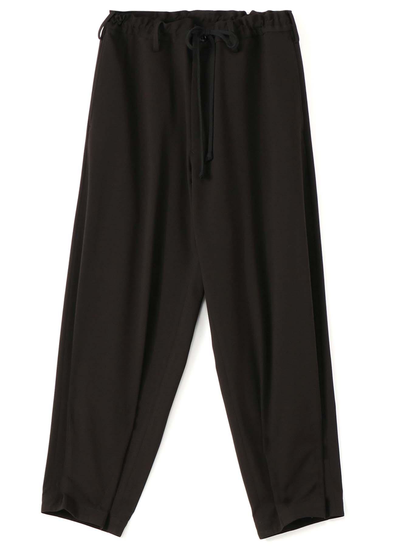 Pe/Rayon Gabardine Stretch Hem Darts Medium-thin String Pants