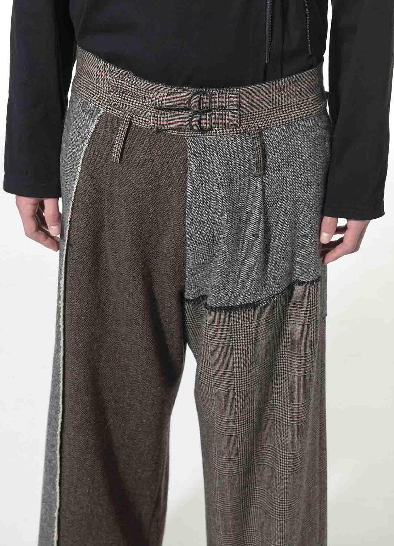 Crazy tweed One Tuck Waist Adjust Buggy Pants
