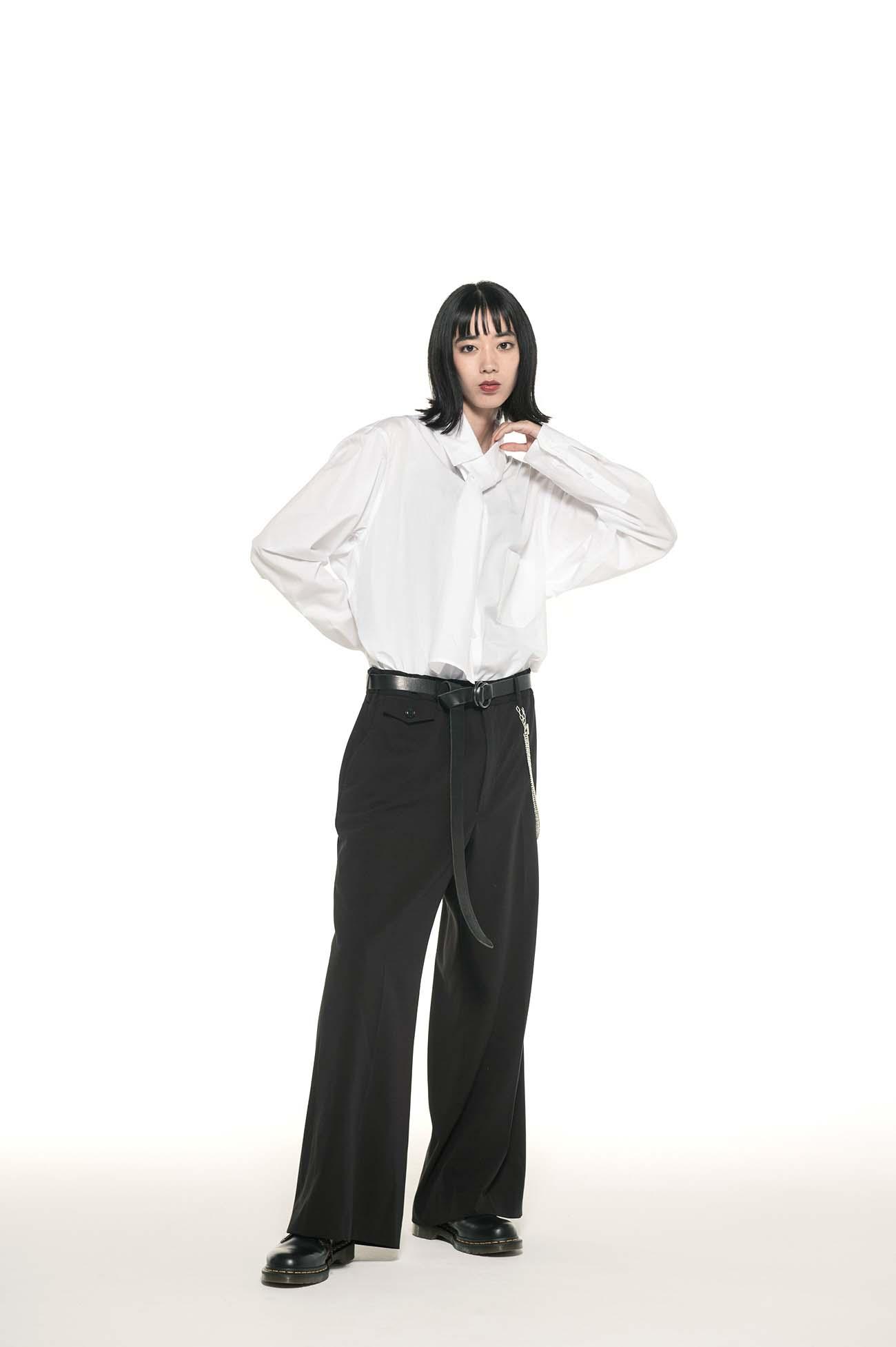 Pe/Rayon Gabardine Stretch No-tuck Flare Pants