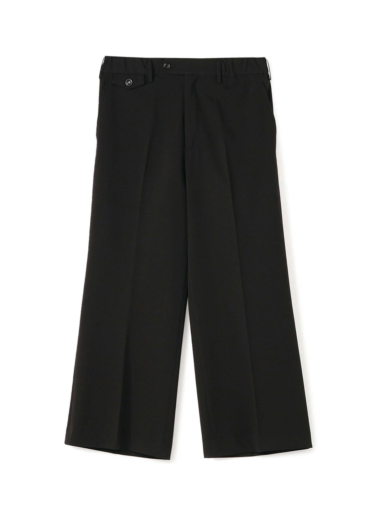 Pe/Rayon Gabardine Stretch No-tuck Flare Pants