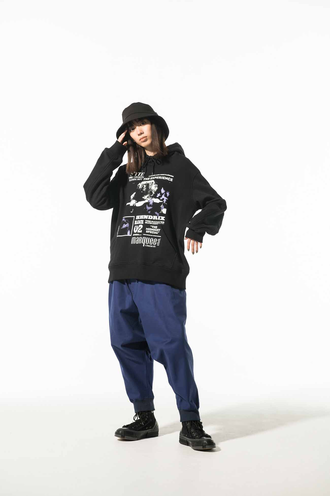 French Worker Surge Hem Rib Balloon Saruel Pants