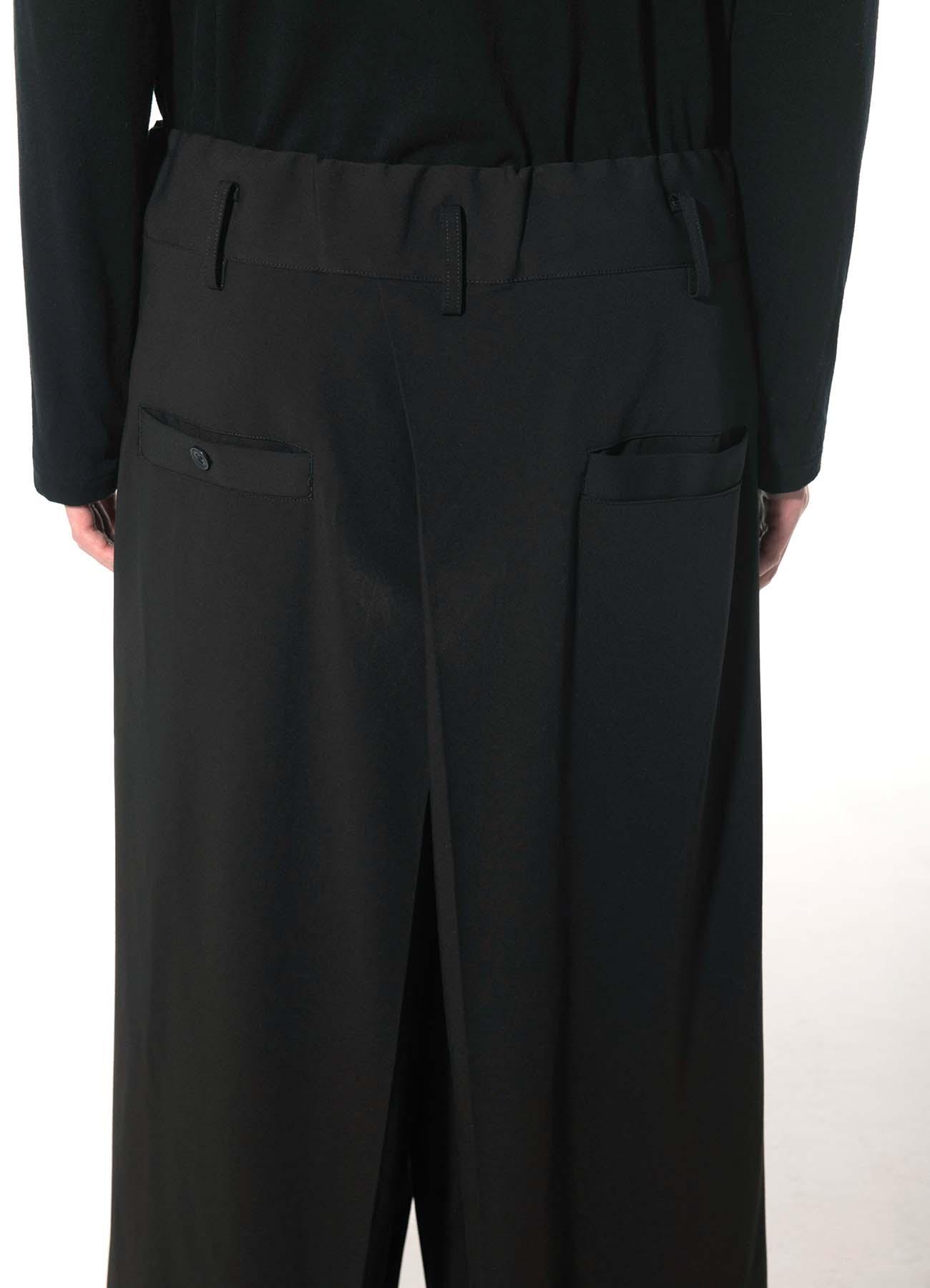 Pe/Rayon Gabardine Stretch Hakama Tuck Pants