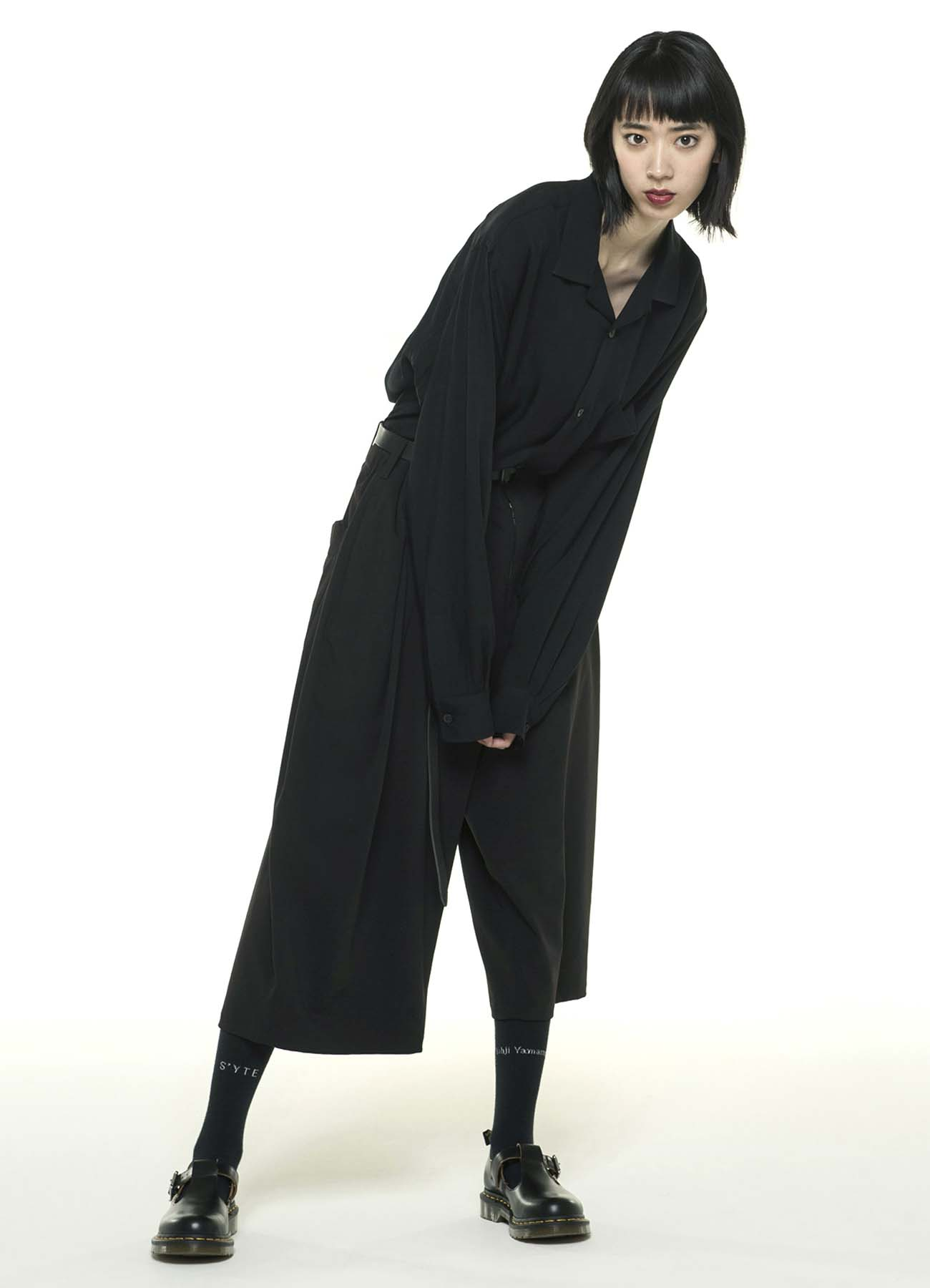 Pe/Rayon Gabardine Stretch One Tack 6-quarter-length Pants