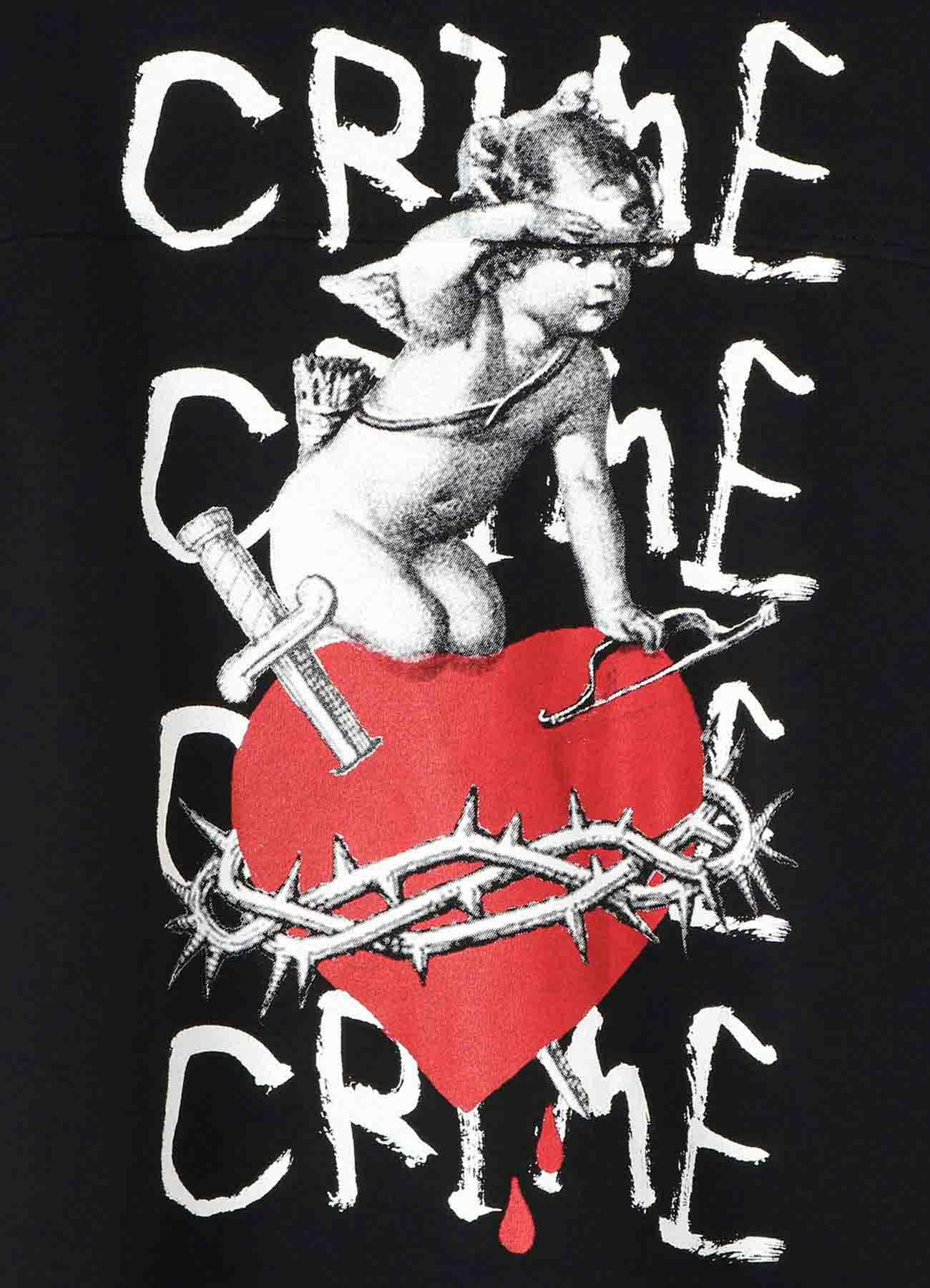 French Terry Stitch Work Angel Heart Zipper Hoodie