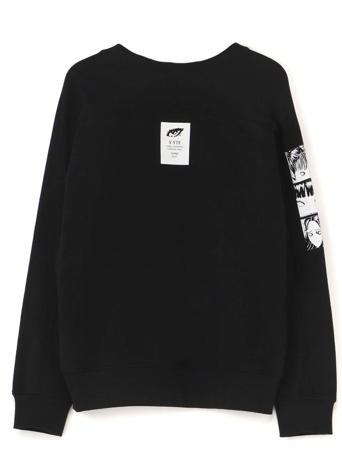 French Terry Stitch Work「Tomie」A group and a Street Demon Pullover Crew