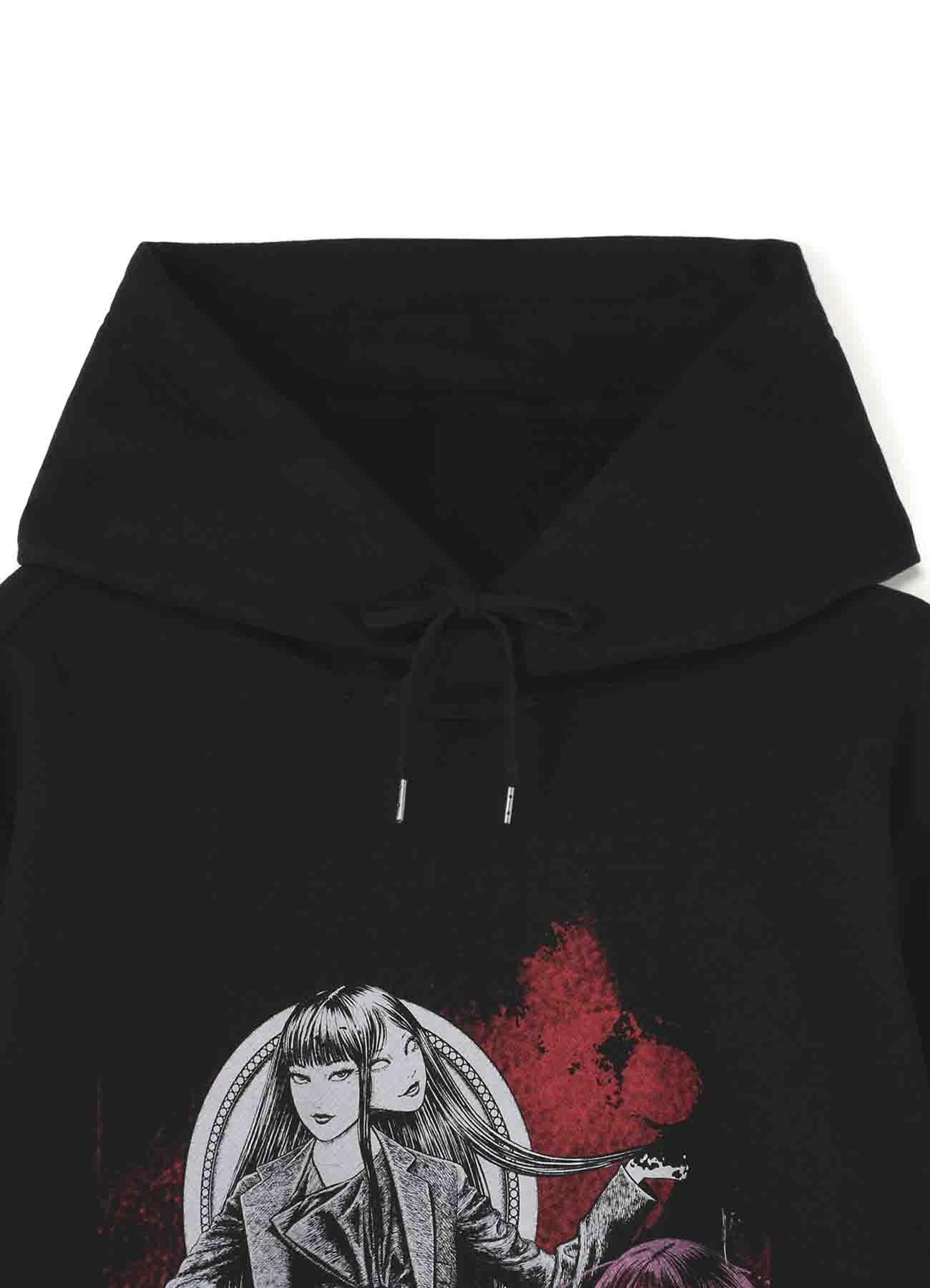 """French Terry Stitch Work """"Tomie"""" Wearing  Yohji Yamamoto Lace-up Dress Hoodie"""