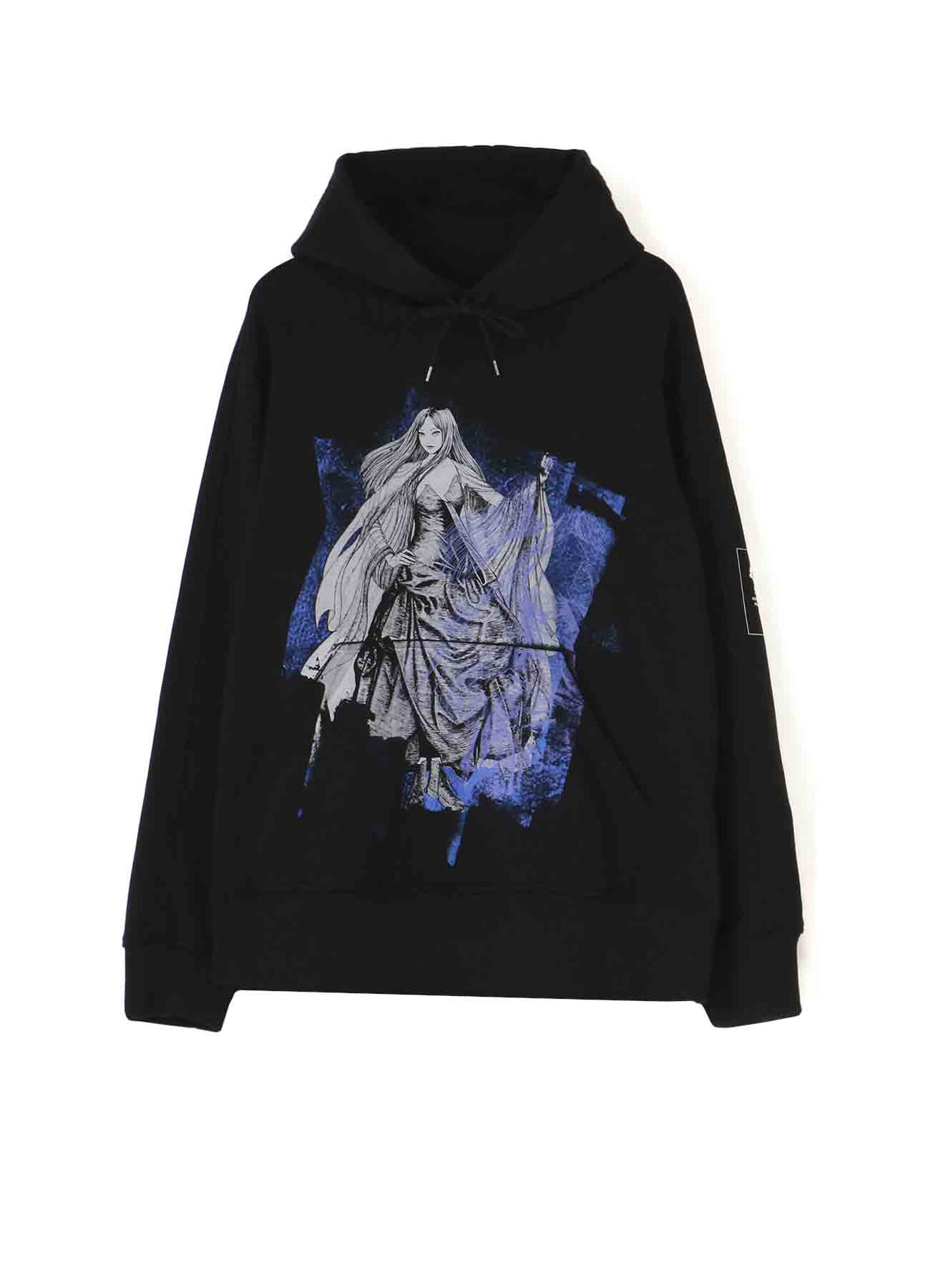 "French Terry Stitch Work ""Tomie"" Wearing Yohji Yamamoto Dress Tulle Hoodie"