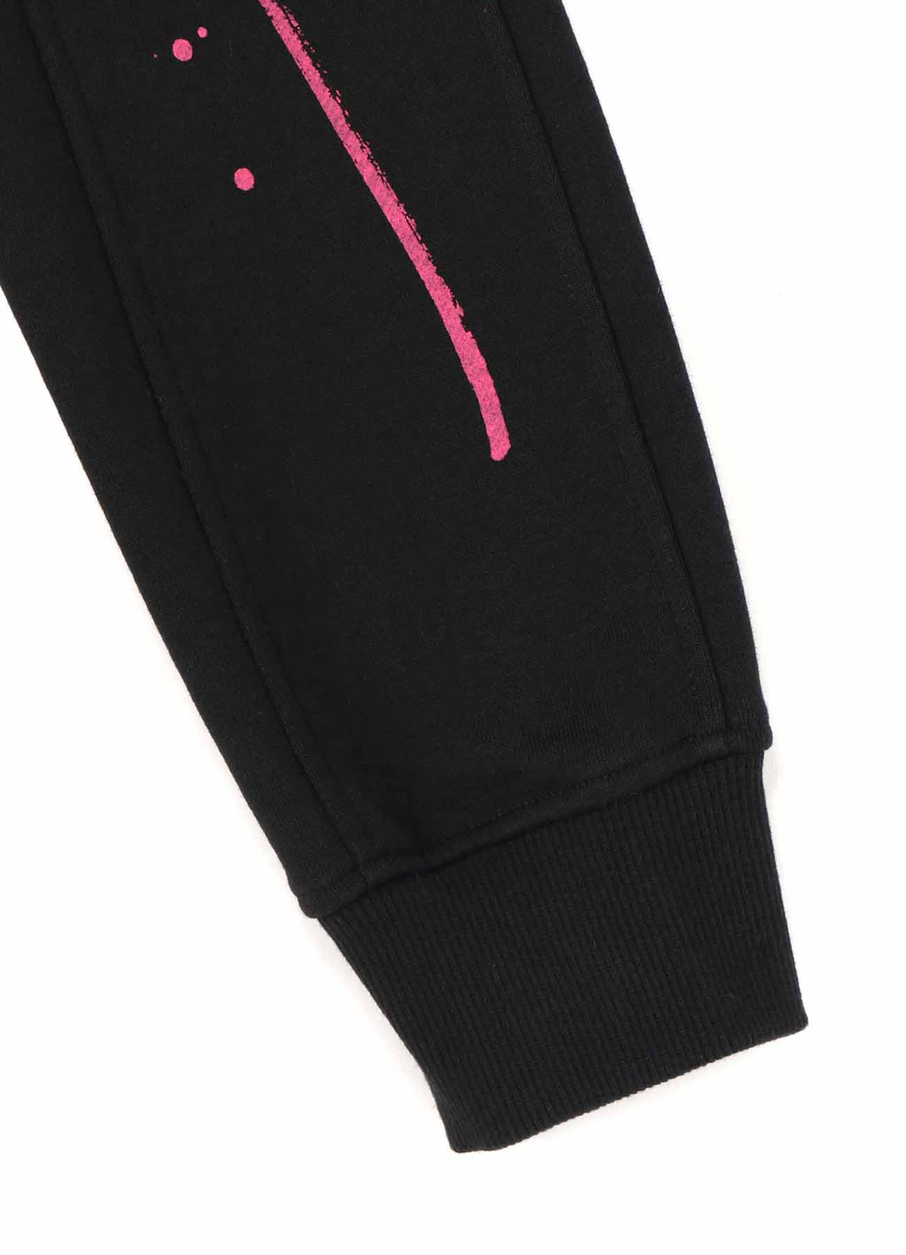French Terry Stitch Work Tears of Pink Hoodie