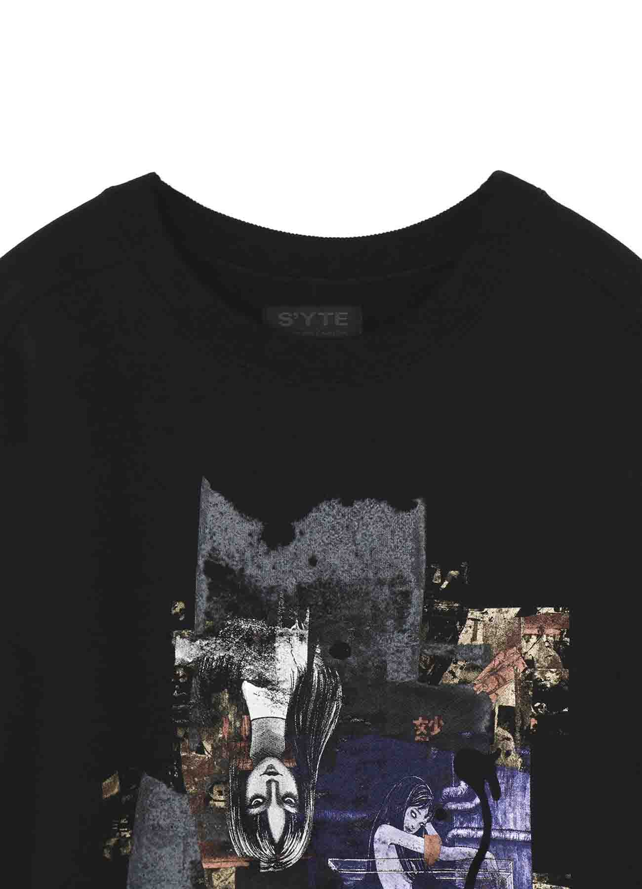 """French Terry Stitch Work """"Tomie"""" Masterpiece Collection Cover Pullover Crew"""