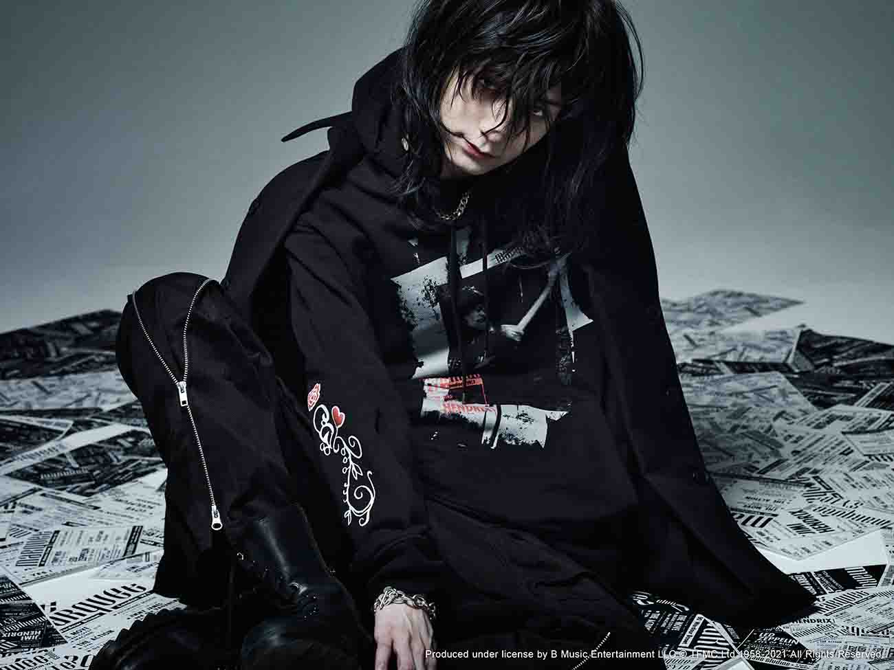 S'YTE × marquee club(R) French Terry Stitch Work Poster Collage Hoodie