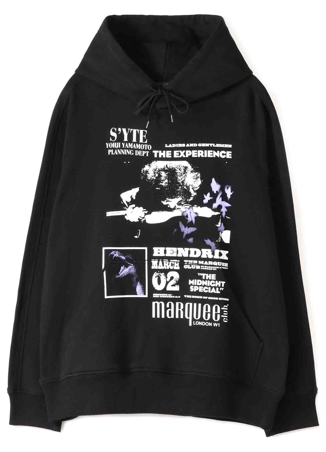 S'YTE × marquee club(TM) French Terry Stitch Work Collage Hoodie