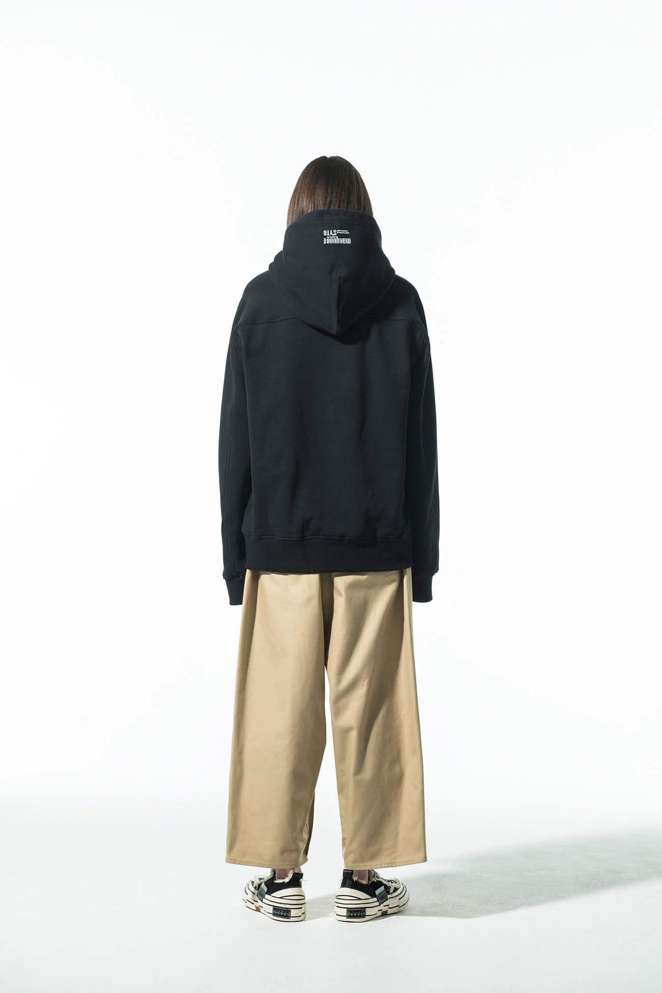 S'YTE × marquee club(R) French Terry Stitch Work Photograph Hoodie