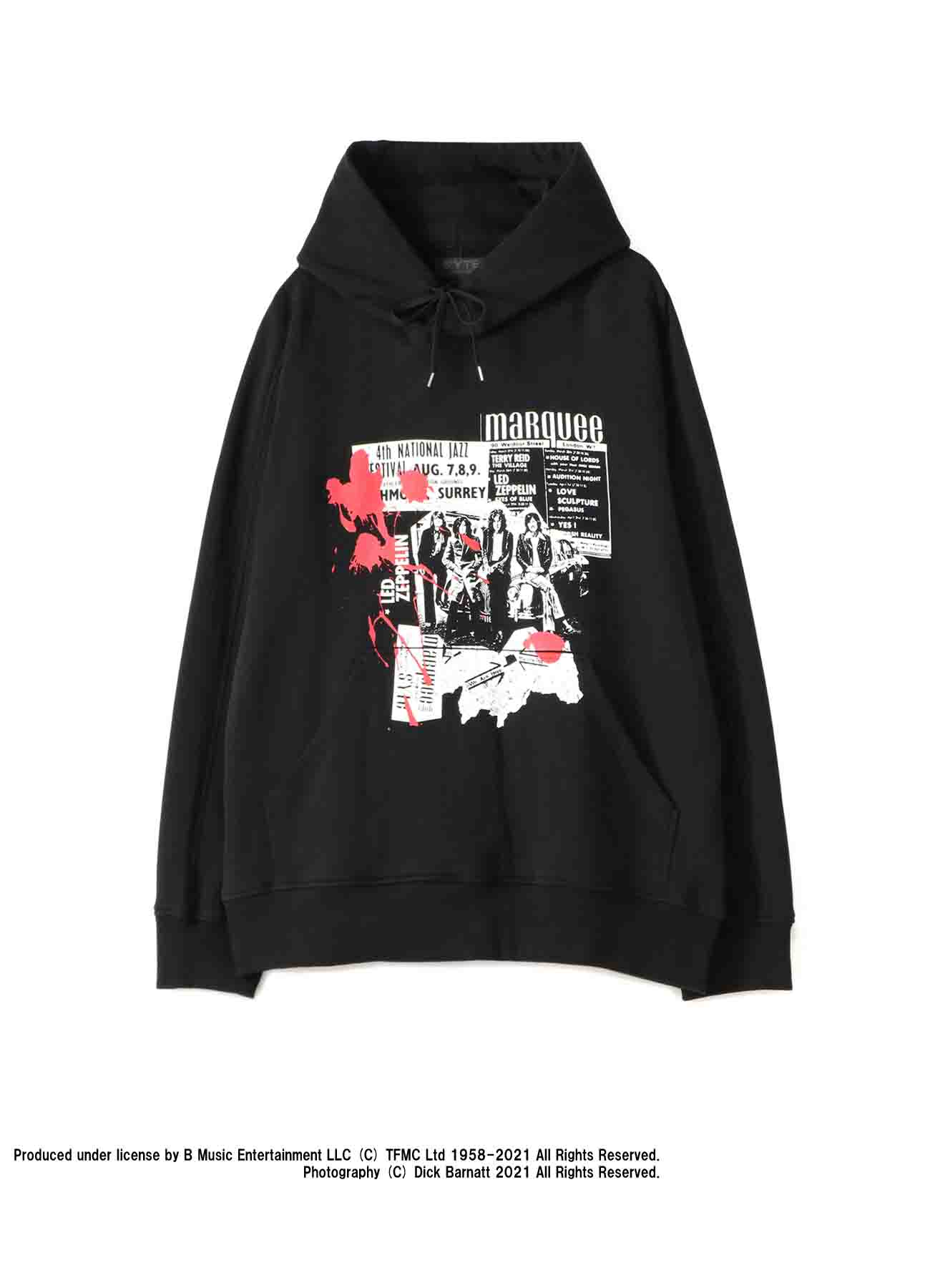 S'YTE × marquee club(TM) French Terry Stitch Work Photograph Hoodie