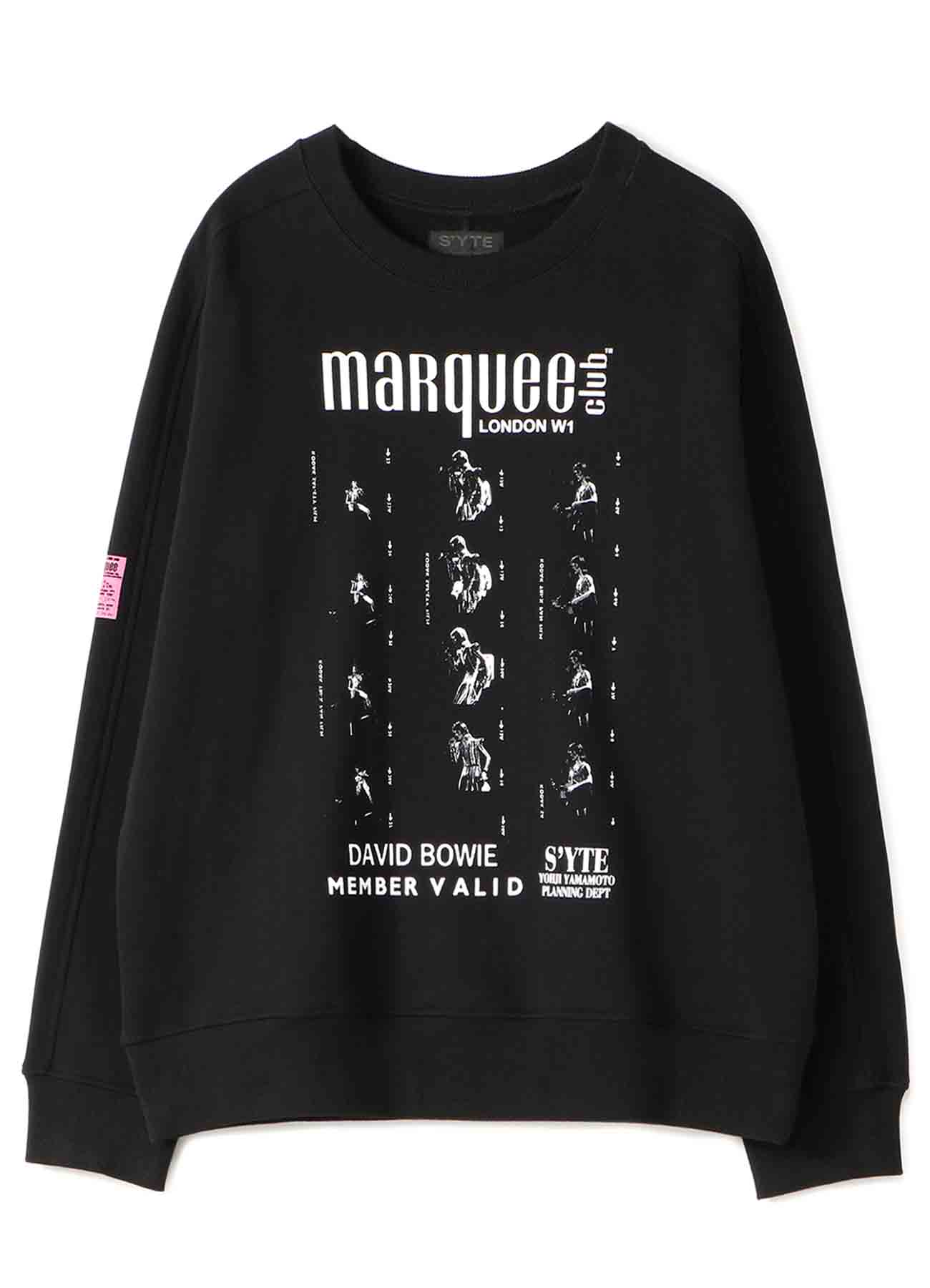 S'YTE × marquee club(TM) 1973 French Terry Stitch Work Crewneck Pullover