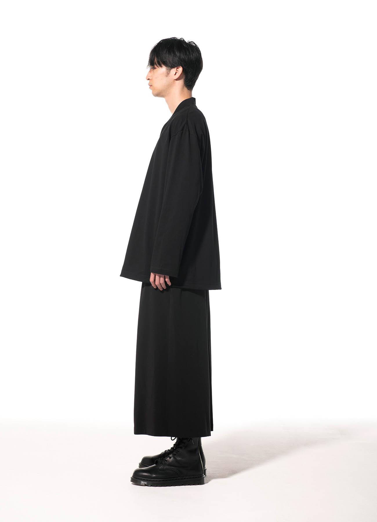 40/2 Cotton Jersey Kimono Layered Drawstring Pullover