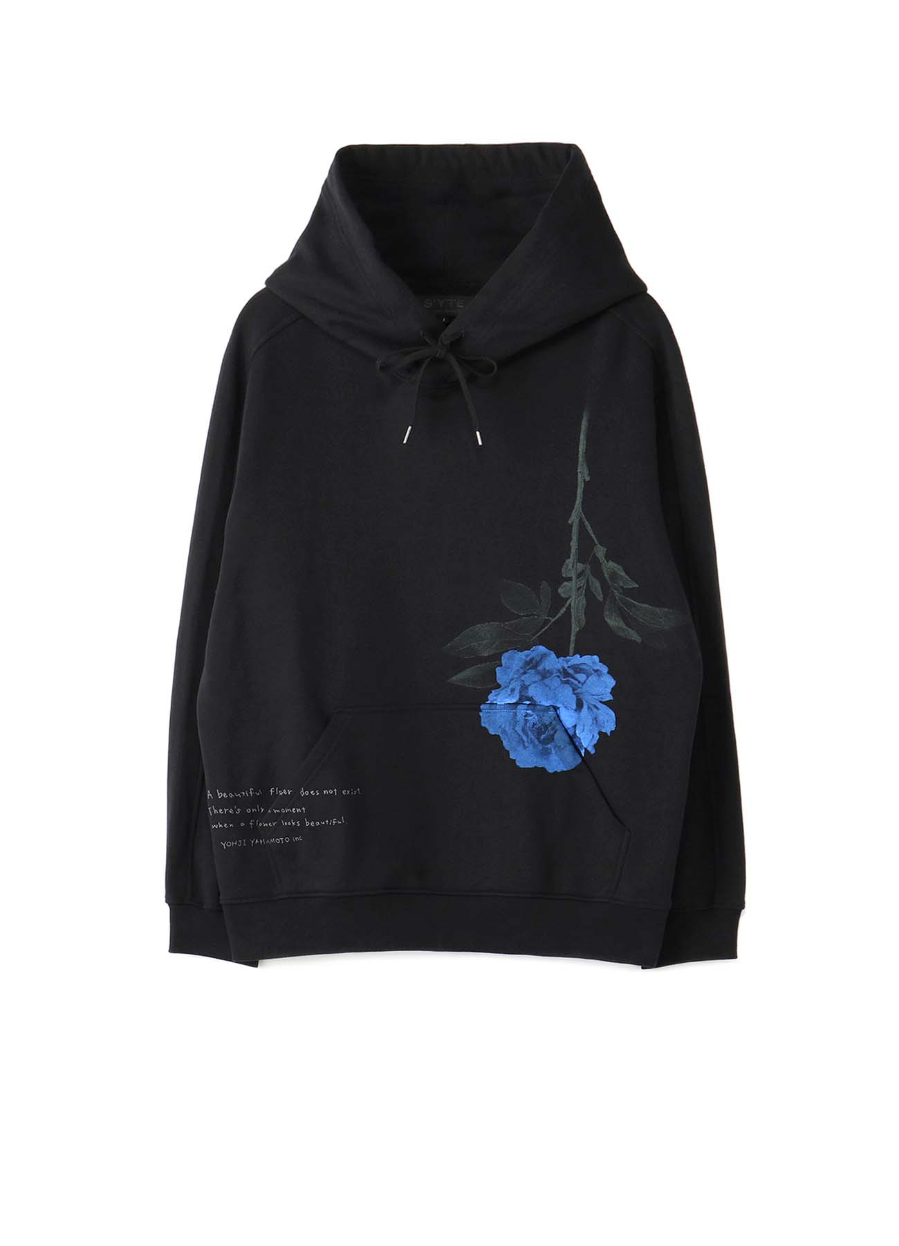 French Terry Stitch Work When a Flower Looks Beautiful Hoodie