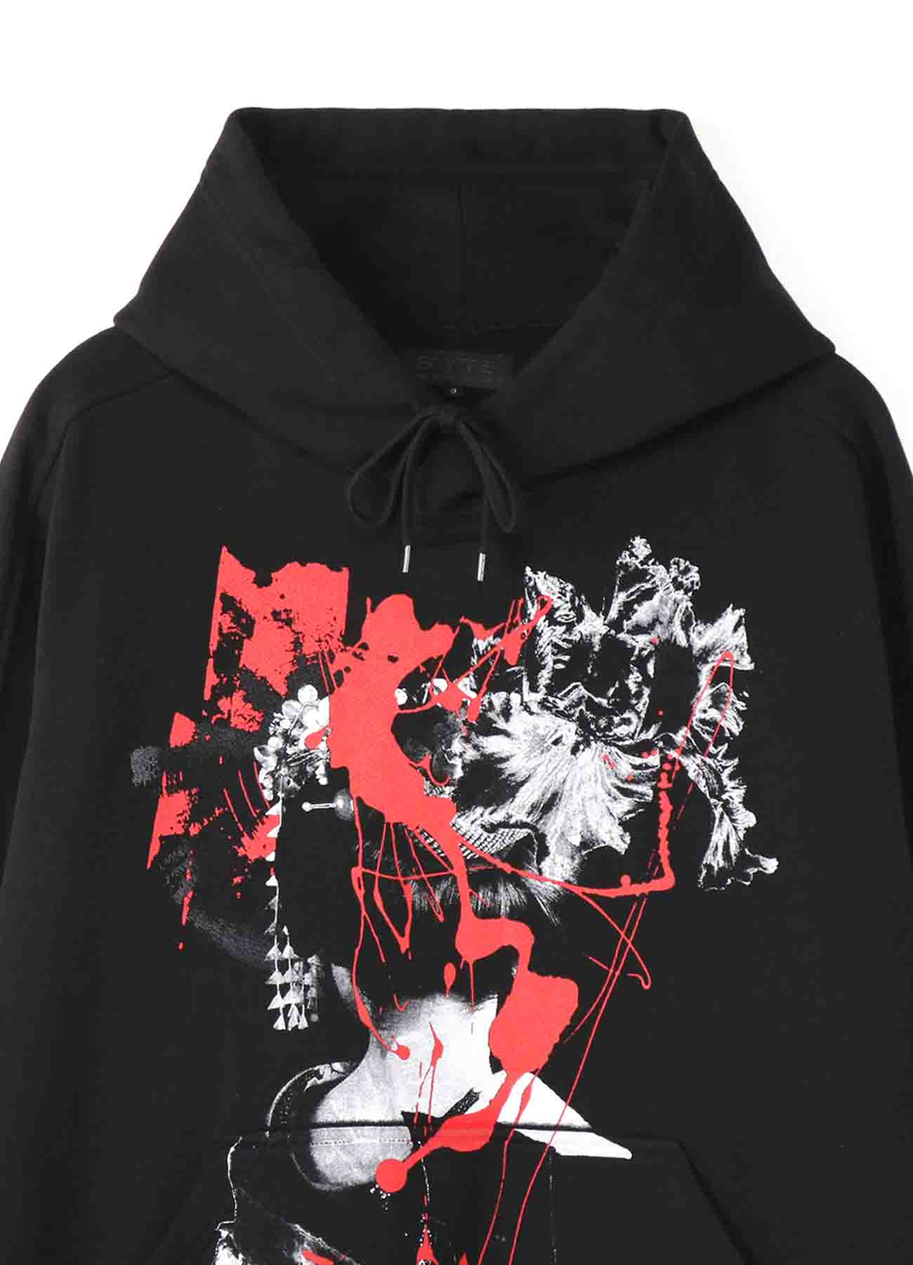 French Terry Stitch Work Maiko Behind Hoodie