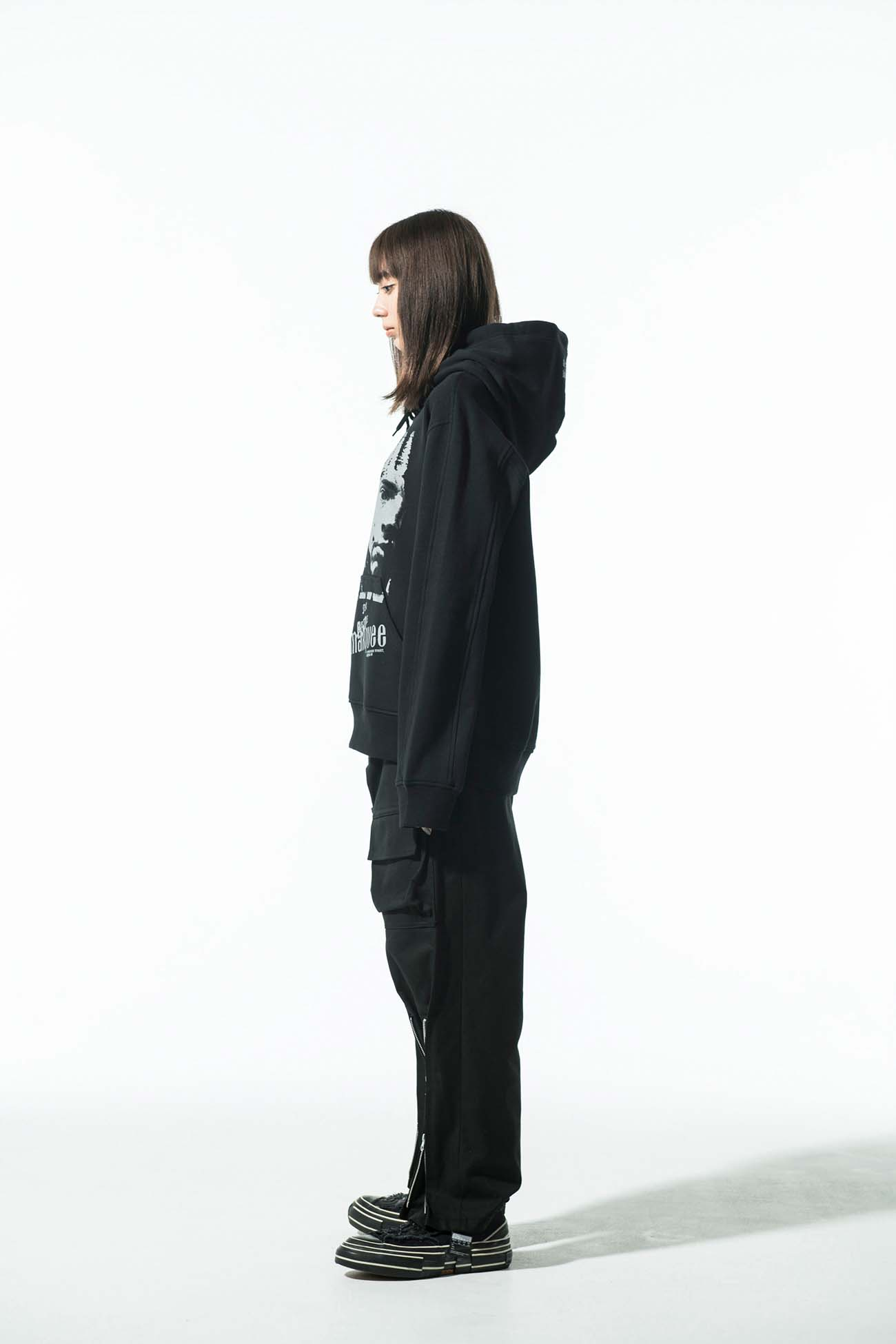 S'YTE × marquee club(TM) French Terry Stitch Work Print Hoodie