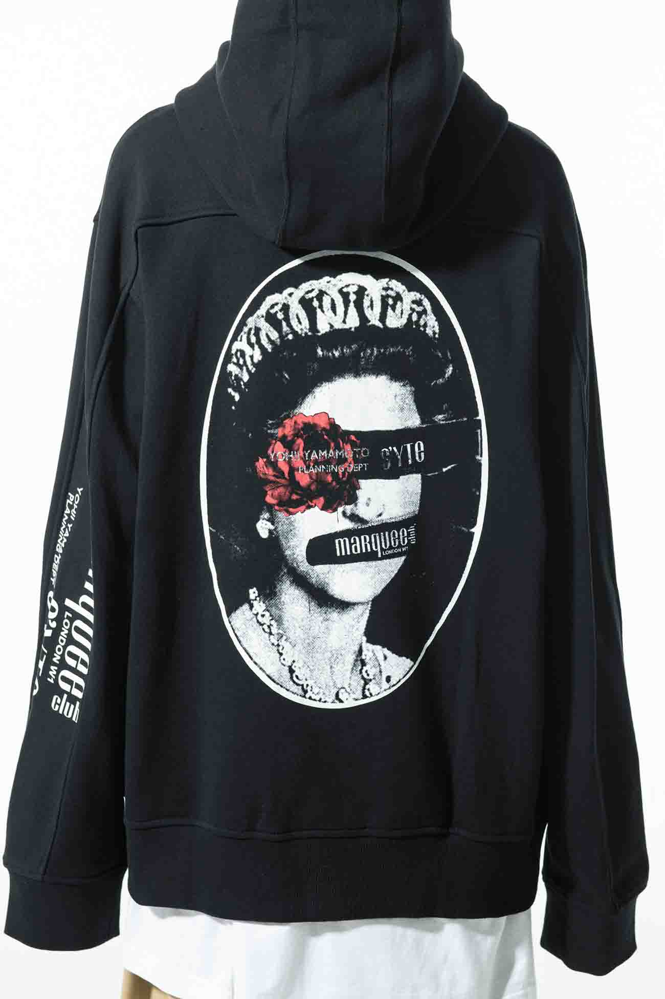 S'YTE × marquee club(TM) French Terry Stitch Work Backprint Zipper Hoodie