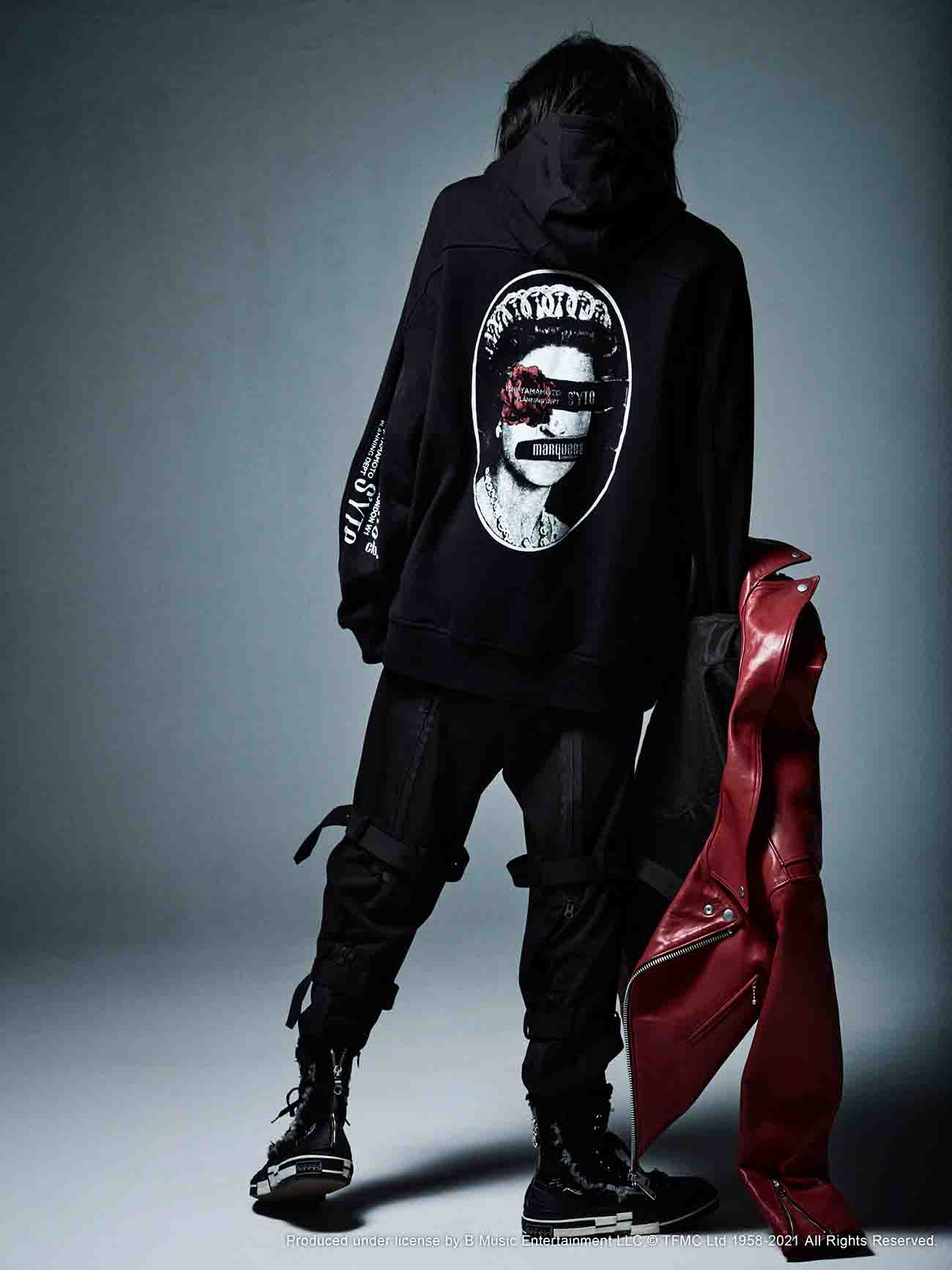 S'YTE × marquee club(R) French Terry Stitch Work Backprint Zipper Hoodie