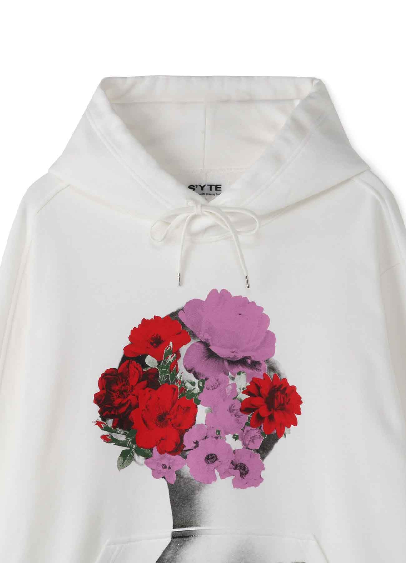 French Terry Stitch Work You are More Beautiful Than a Flower Hoodie