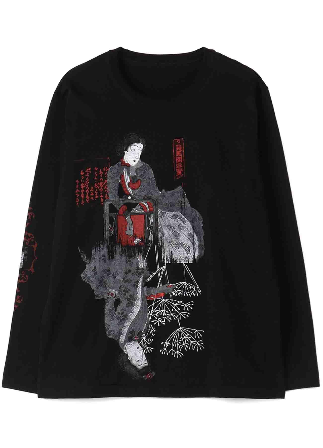 20/Cotton Jersey Rokumeikan Sakasa Bijo Assymetry Long Sleeve T-Shirt