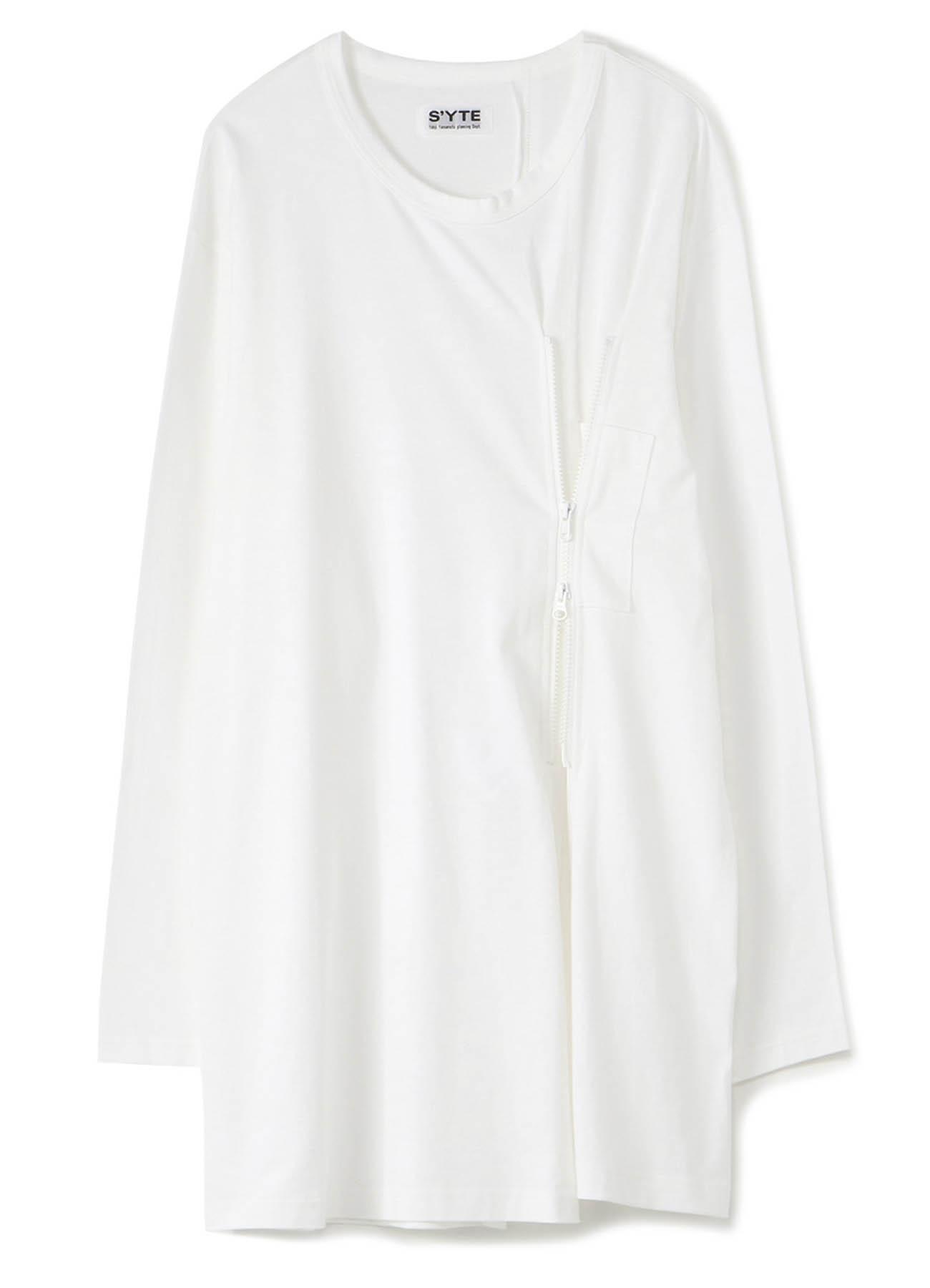40/2 Cotton Jersey Front Zipper Long Crew