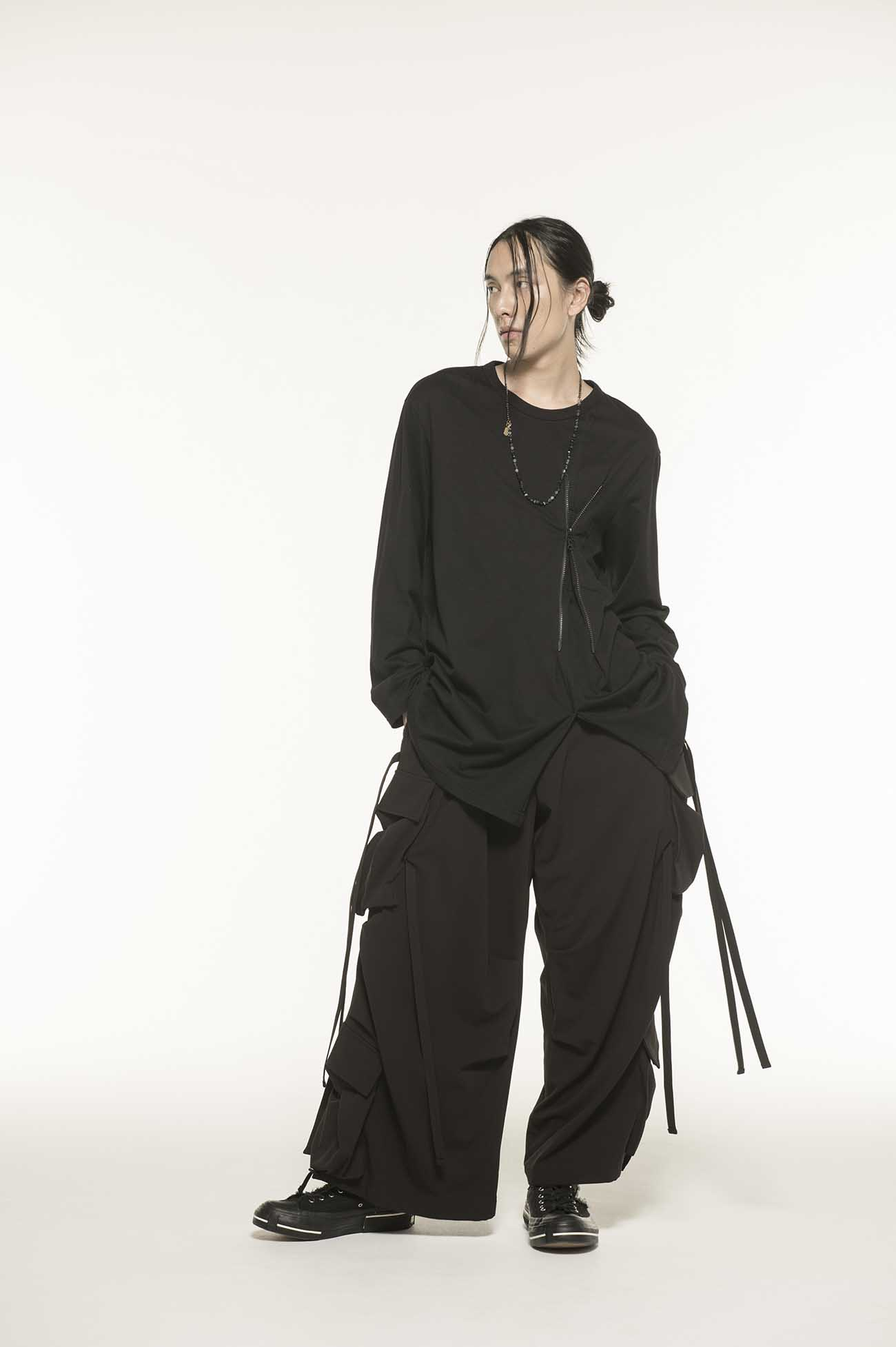 40/2 Cotton Jersey Front Zipper Long Crew