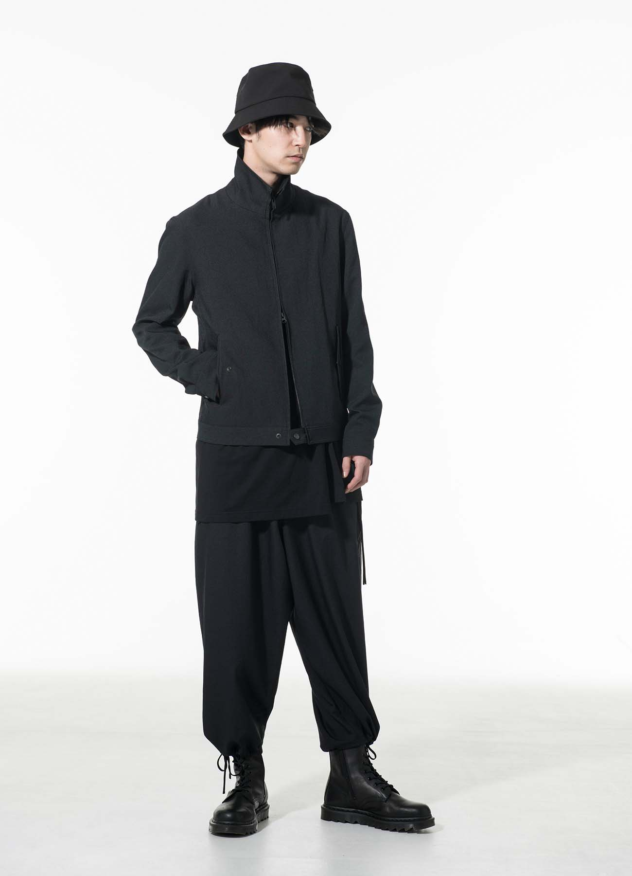 Shiwanoaru Polyester Stretch Twill Swing Top Jacket