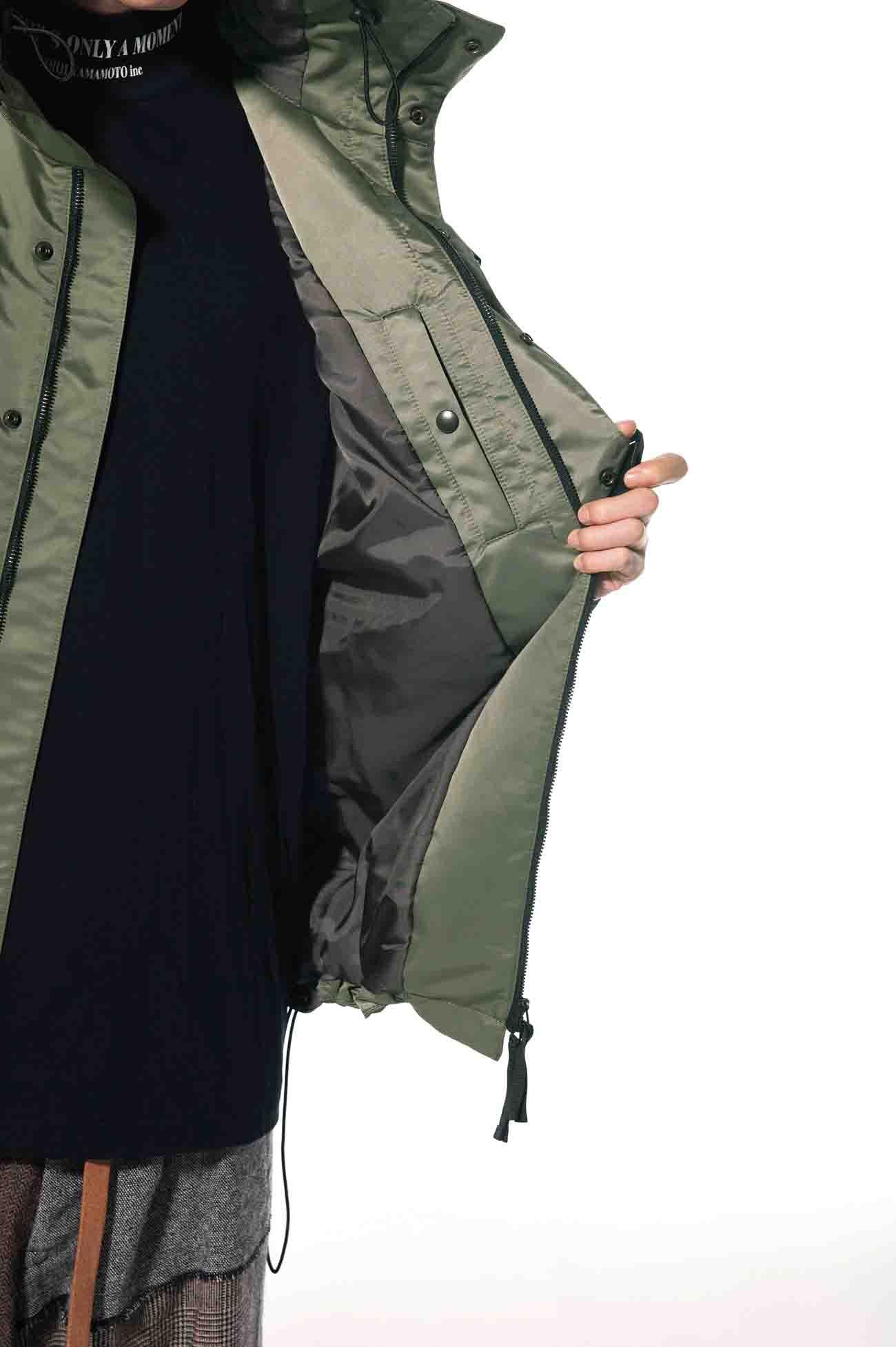 Nylon Twill Storm Shield Double Buckle Shell Jacket