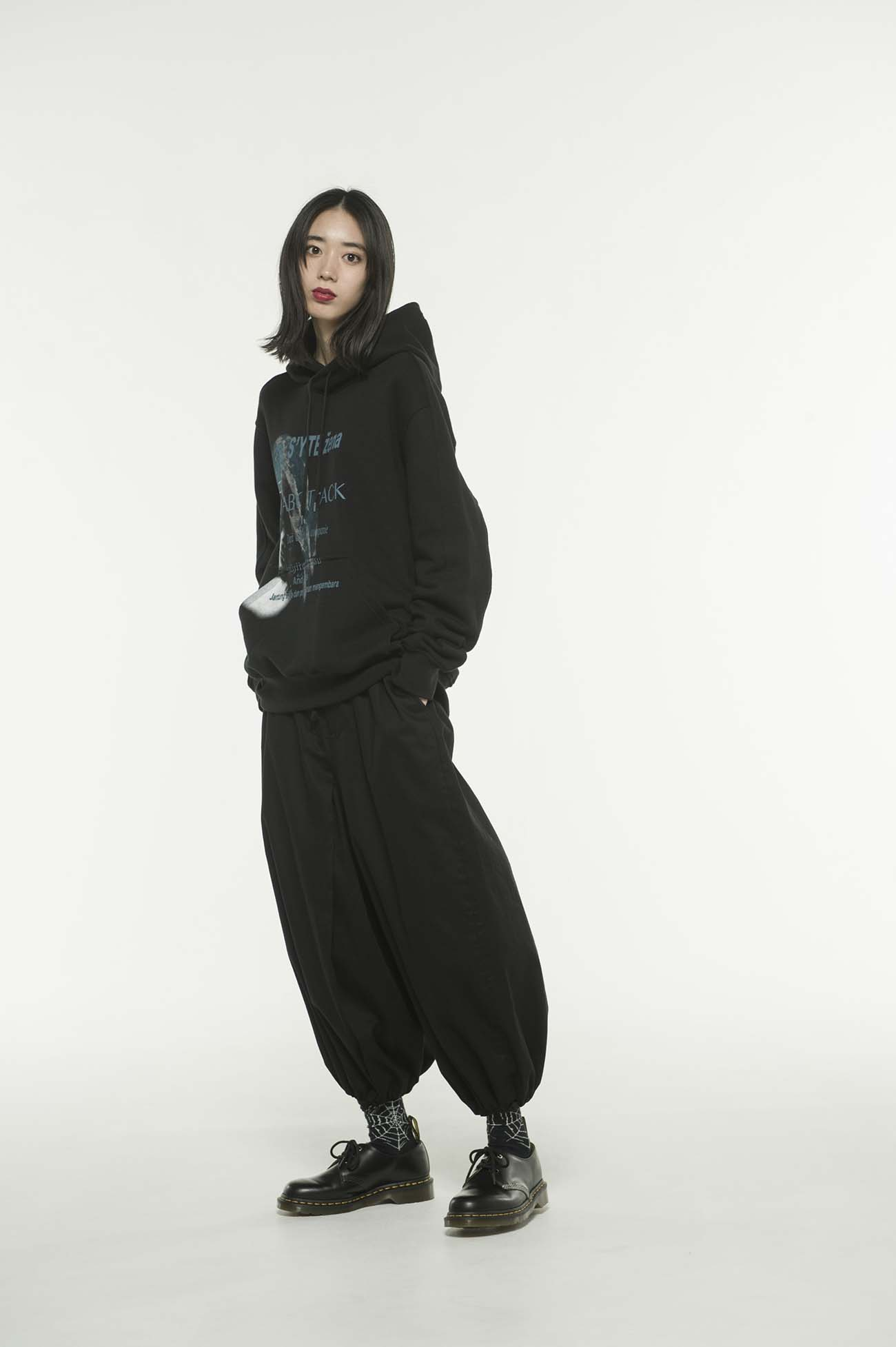 French Terry Stitch Work S'YTE Zena Romany Hoodie