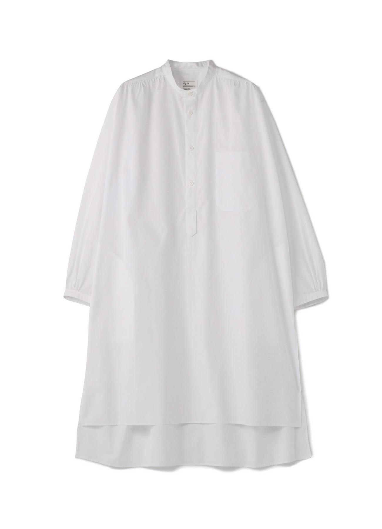 100/2细平纹聚拢套衫大长衬衫