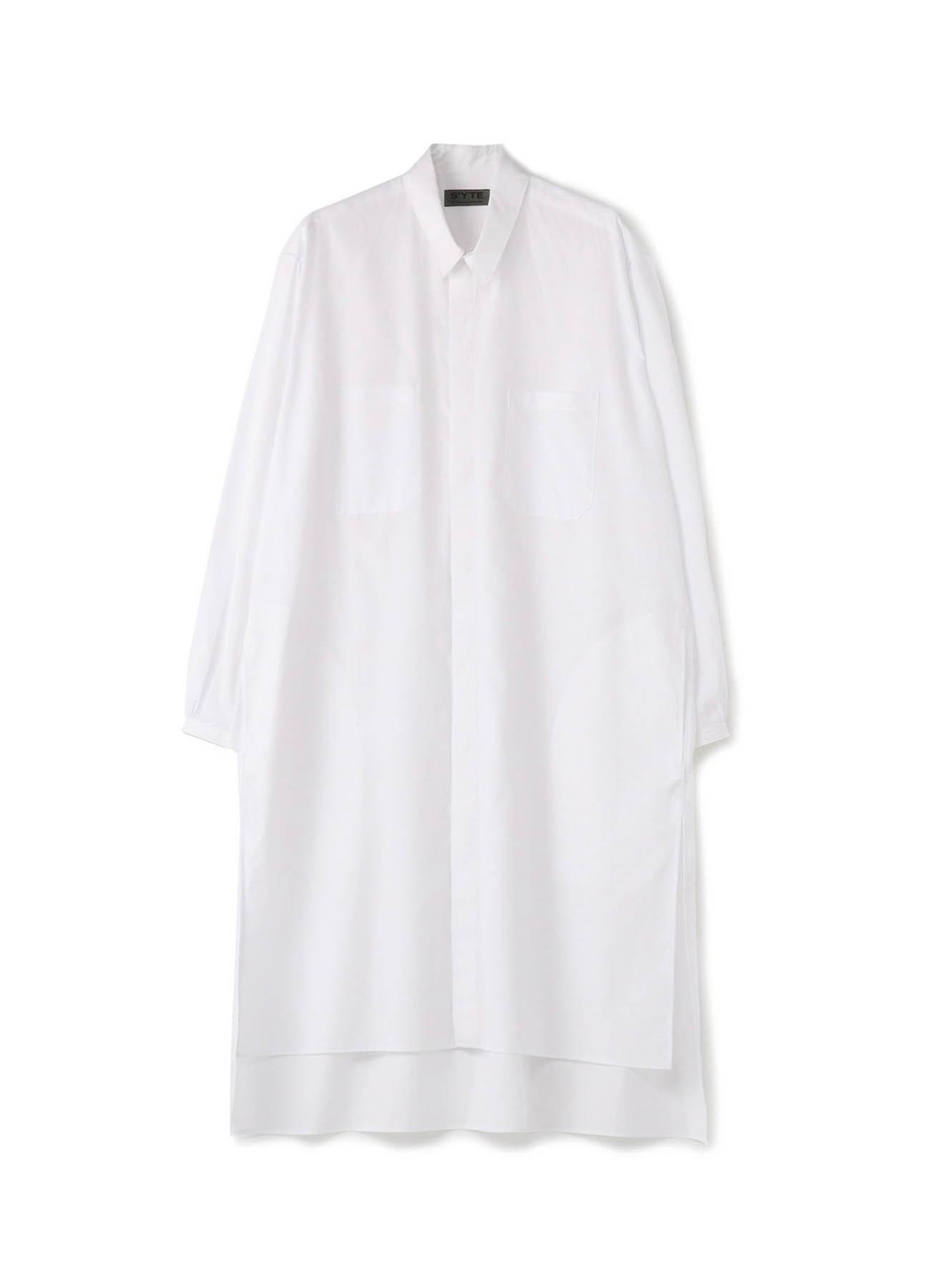 100/2 Broad Fly Front Big Coat Shirt