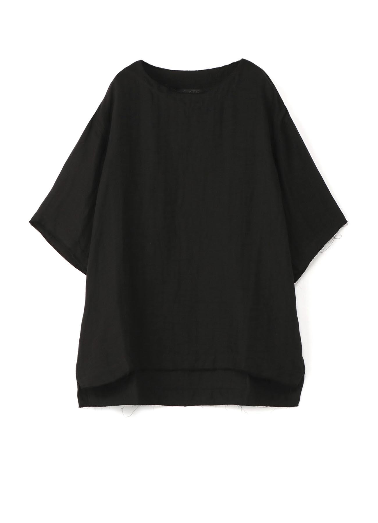 Cotton hemp pullover Crew short sleeve shirt