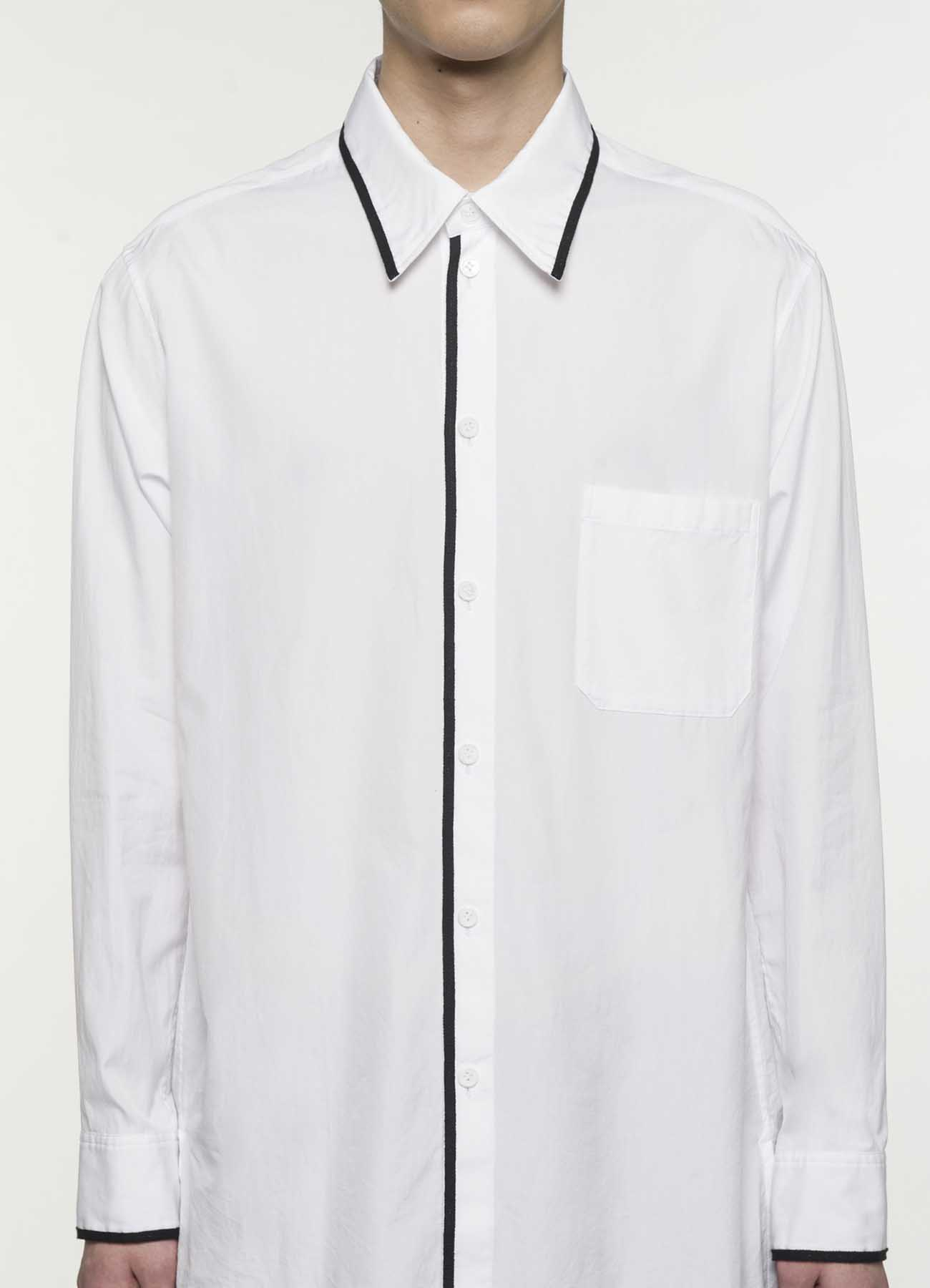 100/2 Broad Regular Collar Tape Shirt