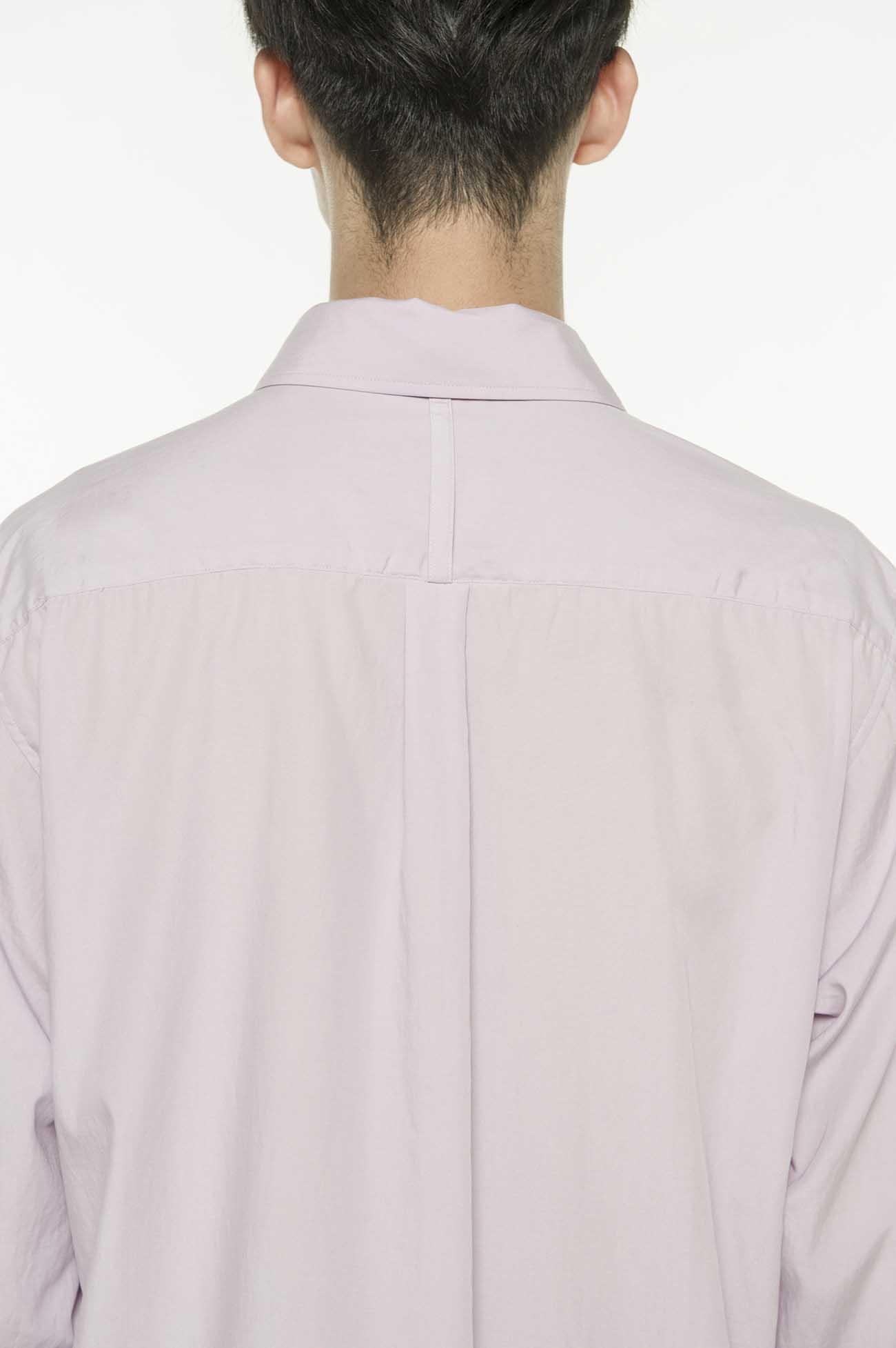 薰衣草刺绣长款衬衫