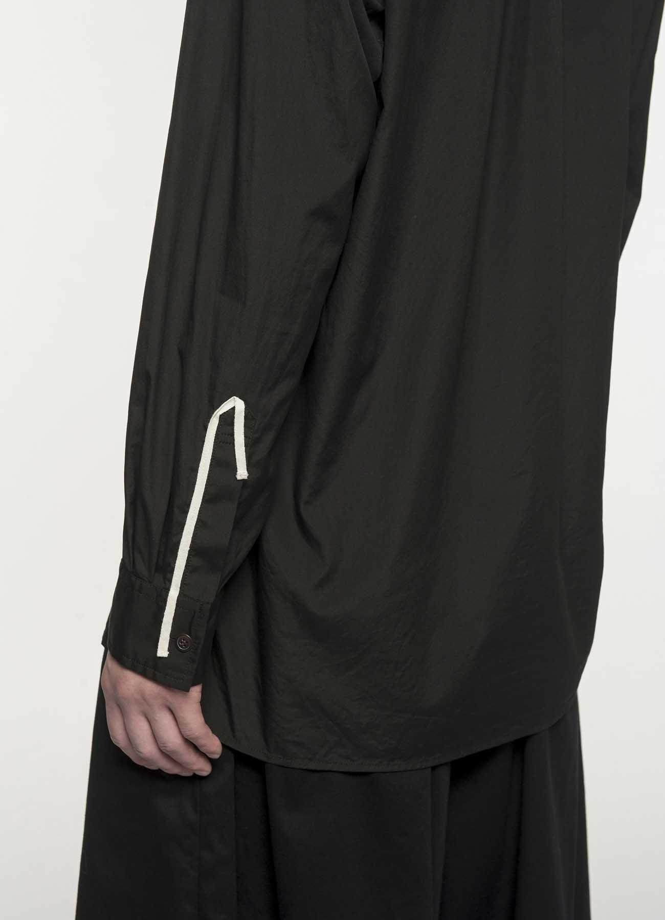 100/2 Broad Open Collar Tape Shirt