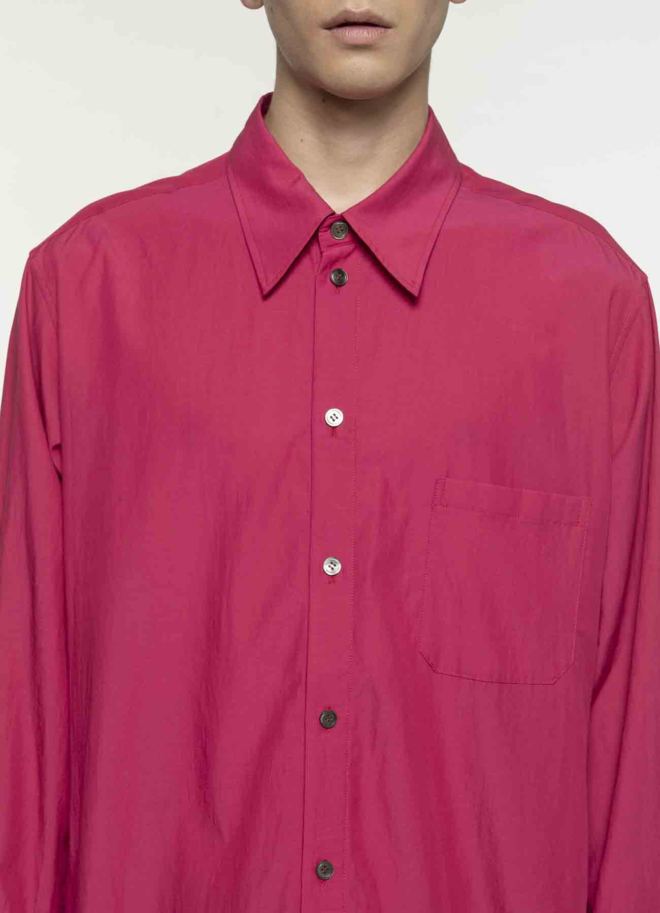 混纺长袖衬衫