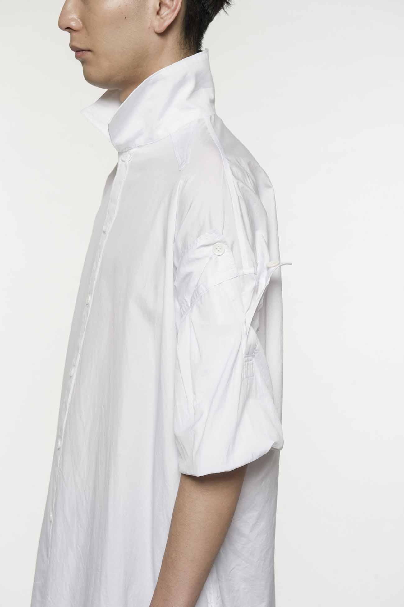 蝙蝠袖长款衬衫