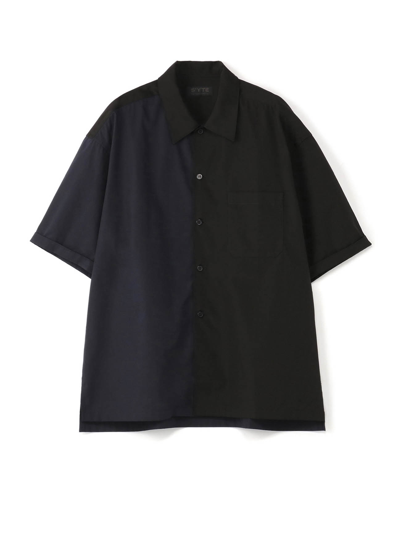 Cotton Broad Panel ByColor Big Short Sleeve Shirt