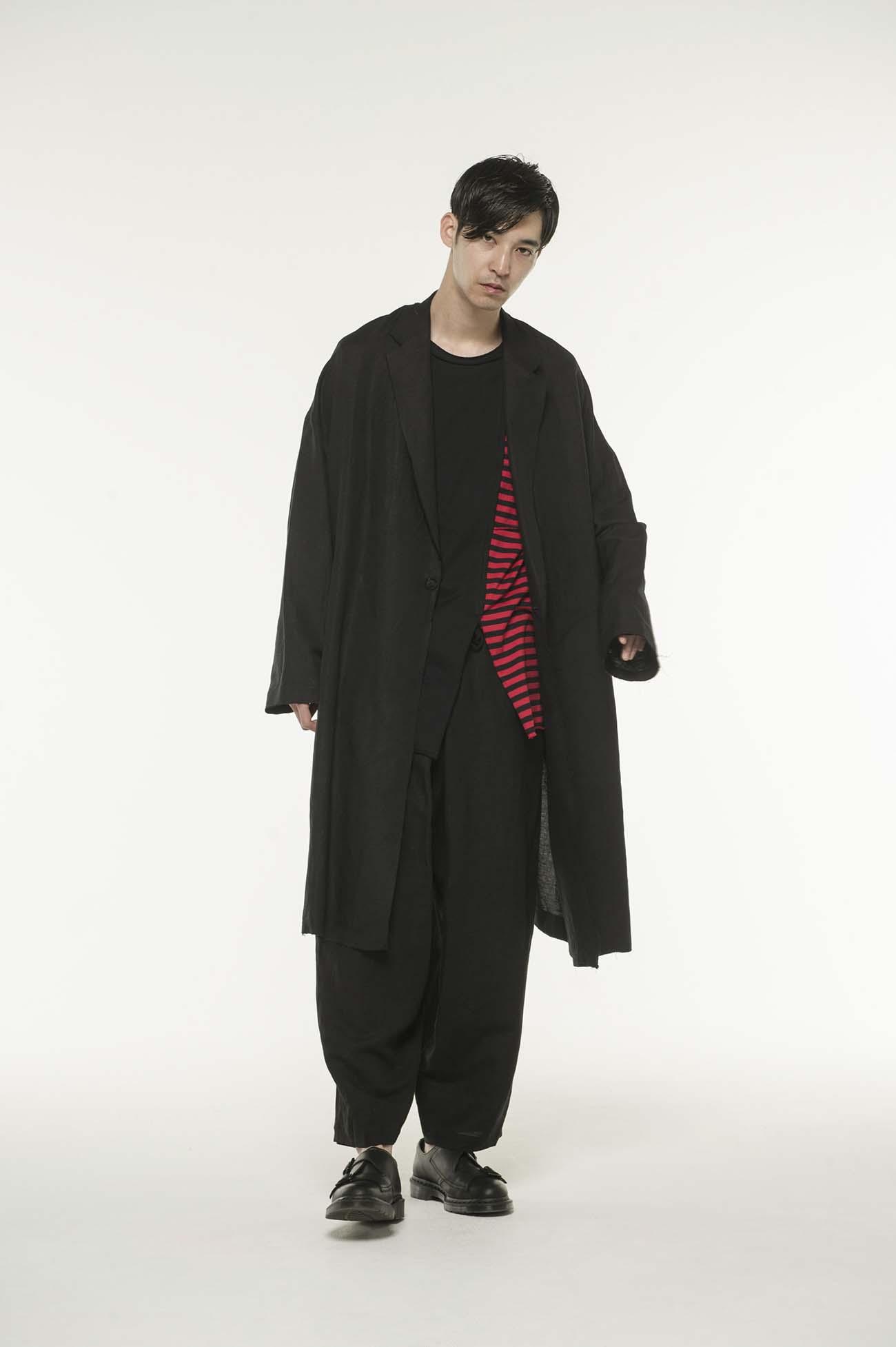 Linen Rayon Easy Cross Big Chester Coat