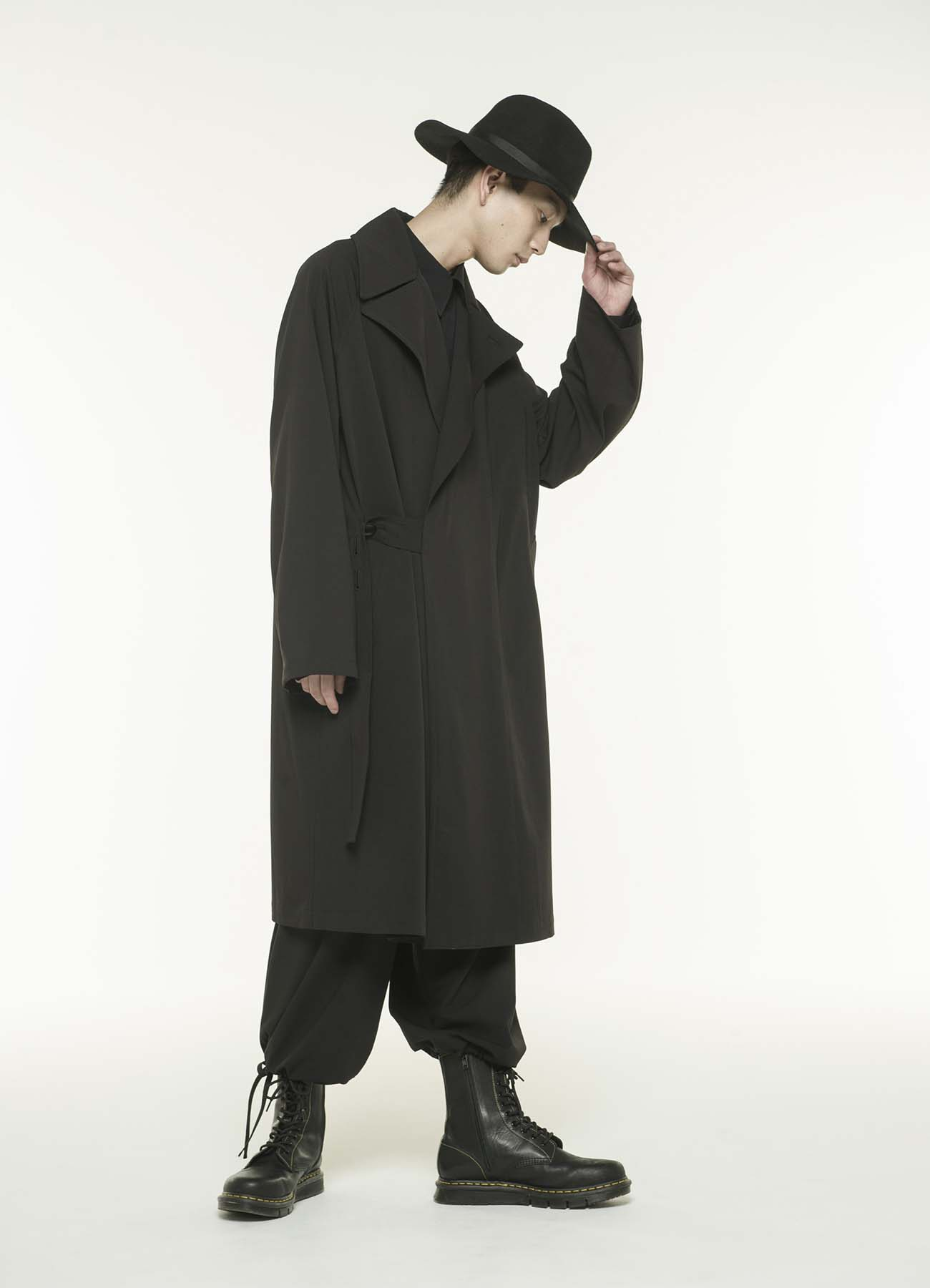 Pe/Rayon Gabardine Stretch Tielocken Coat
