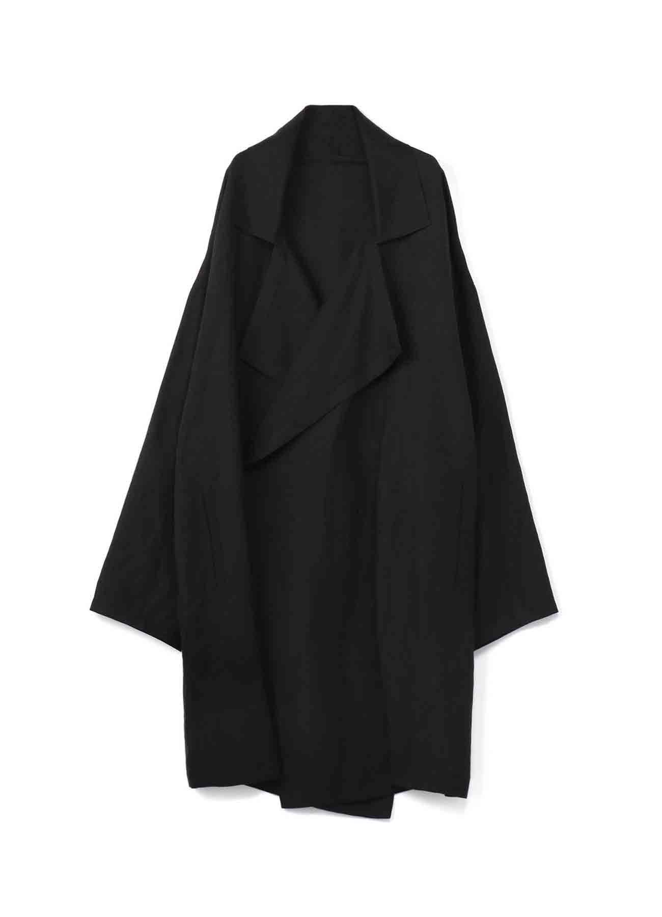 Linen Rayon Frame Double Collar Drape Coat