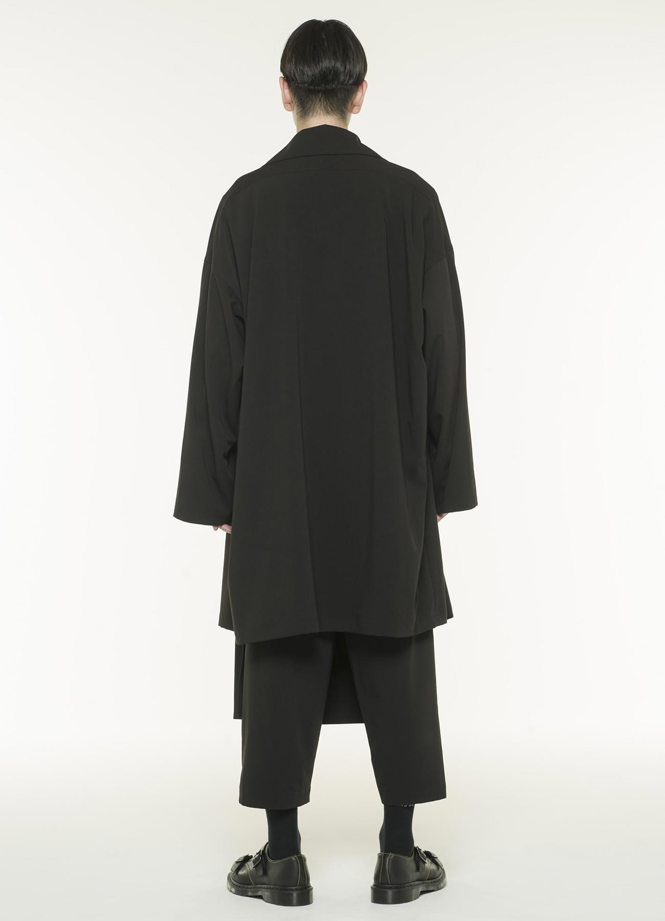 Pe / 人造丝轧别丁弹性框架双领垂褶外套