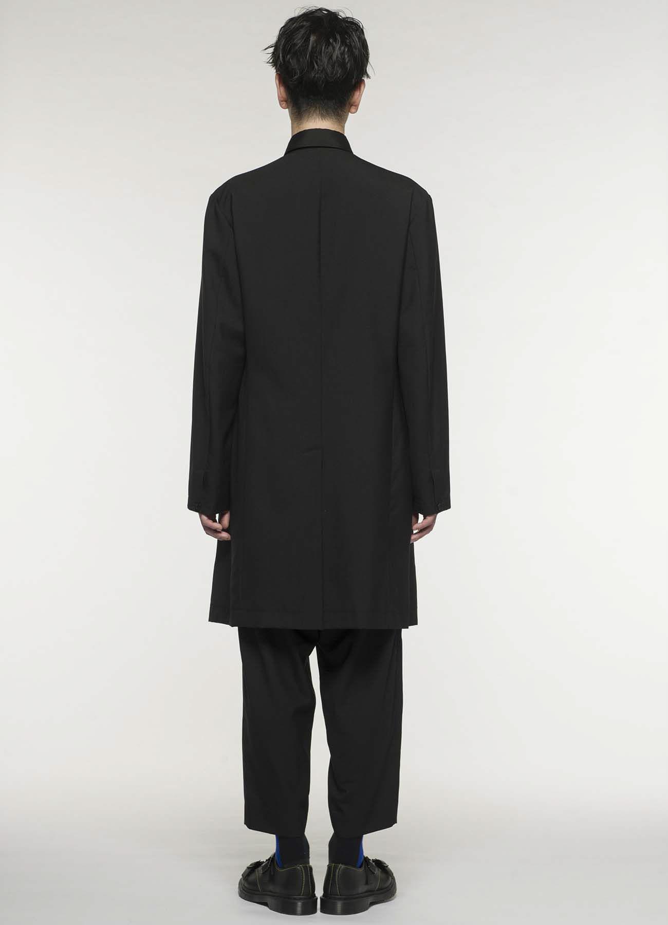 夏季羊毛无领长款大衣