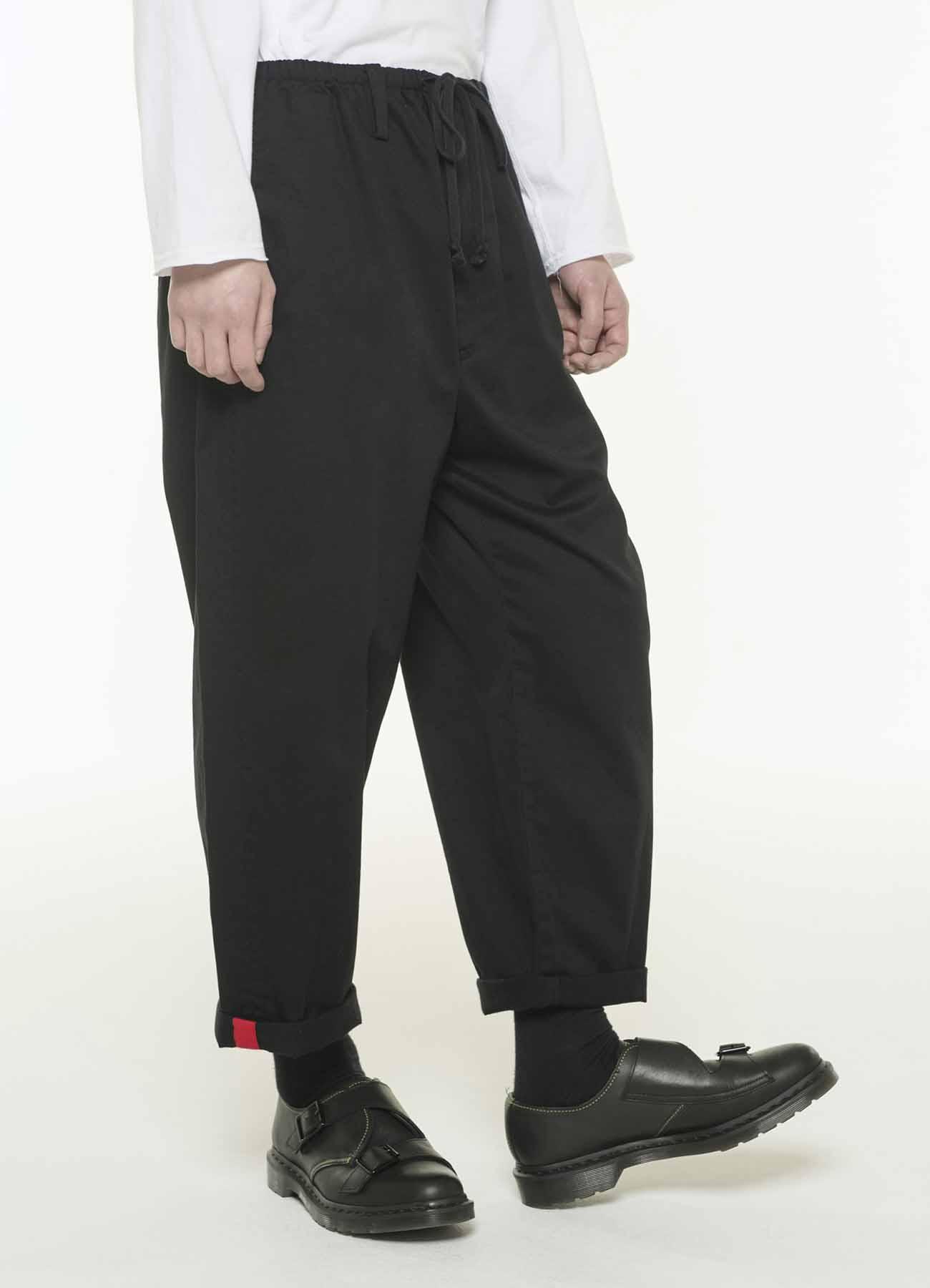 斜纹棉布抽绳收口裤
